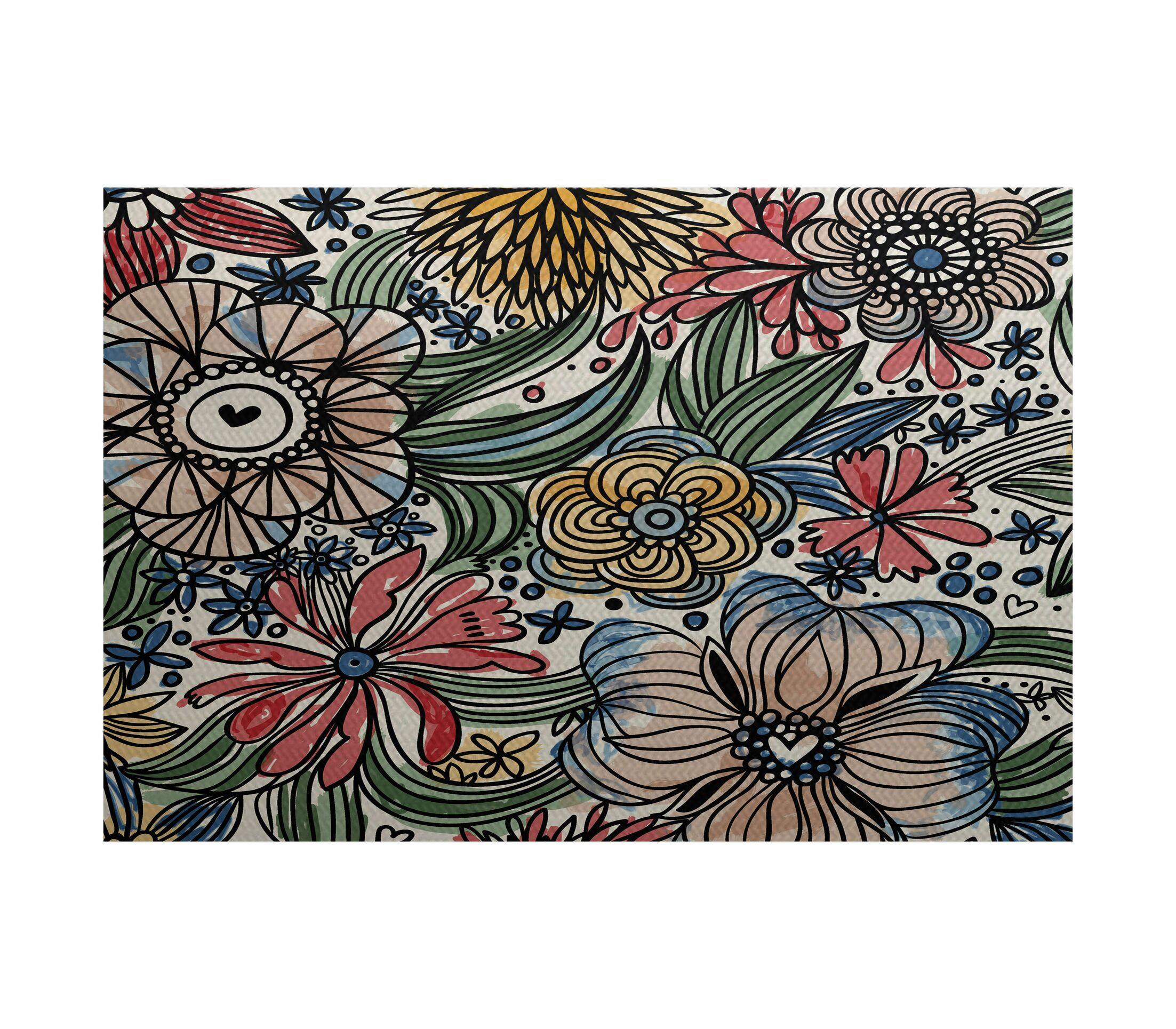 Natahsa Indoor/Outdoor Area Rug Rug Size: Rectangle 3' x 5'
