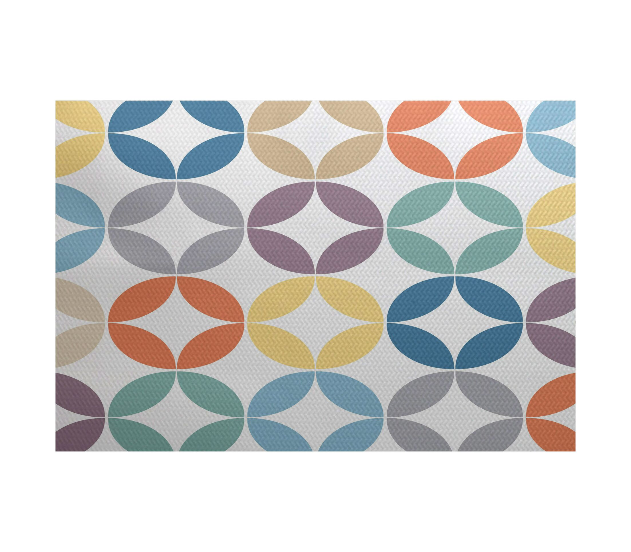 Francisco Green/Blue Indoor/Outdoor Area Rug Rug Size: Rectangle 3' x 5'