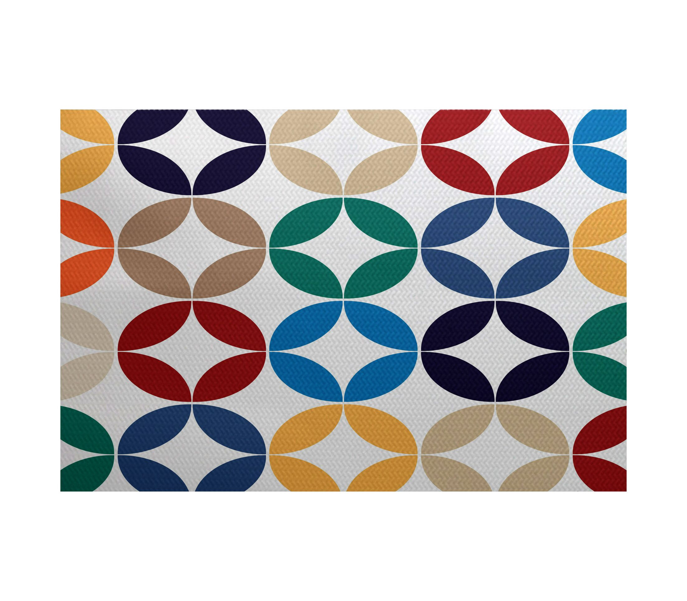Francisco Green/Blue Indoor/Outdoor Area Rug Rug Size: Rectangle 3' x 5'