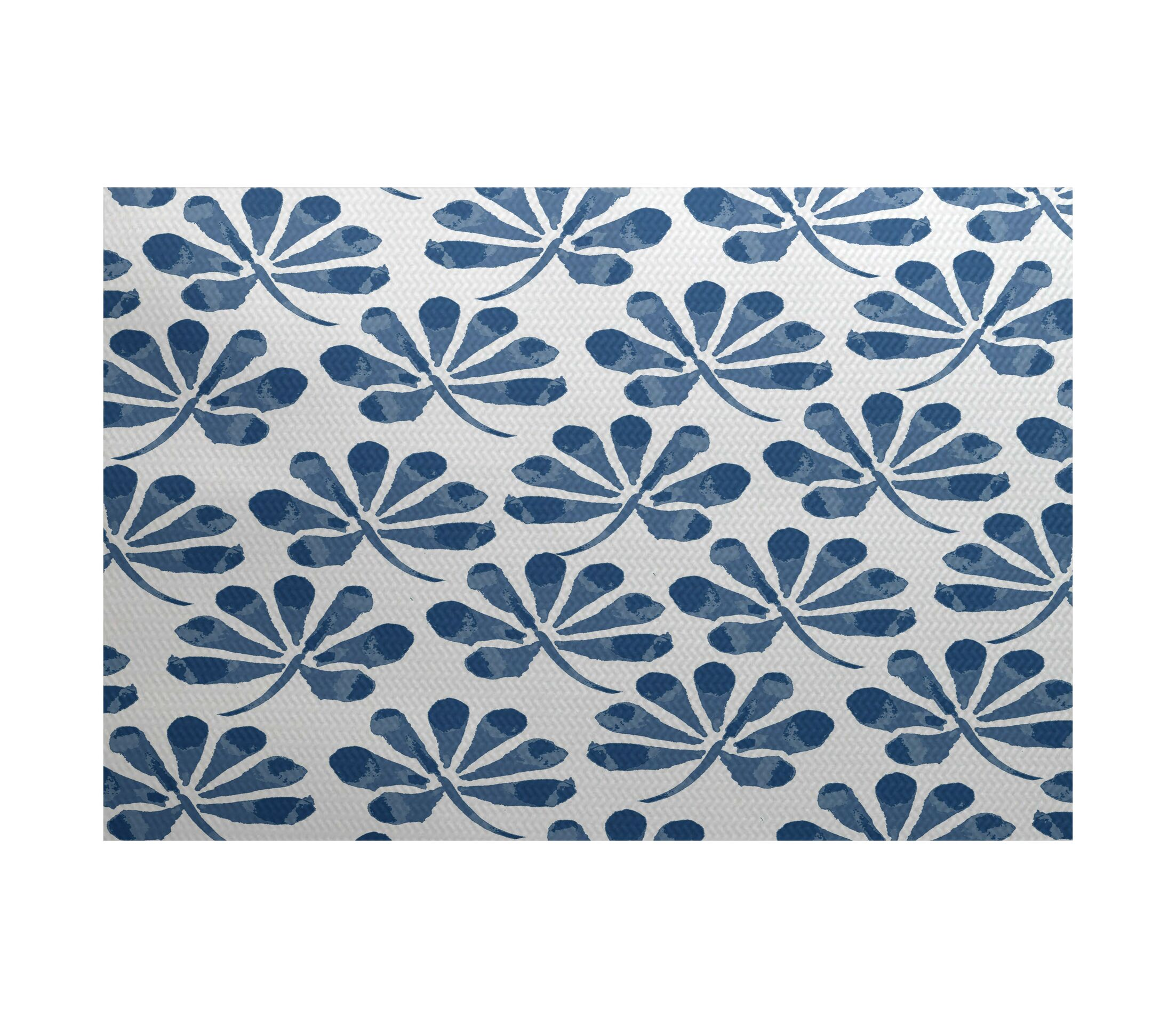 Allen Park Blue Indoor/Outdoor Area Rug Rug Size: Rectangle 3' x 5'
