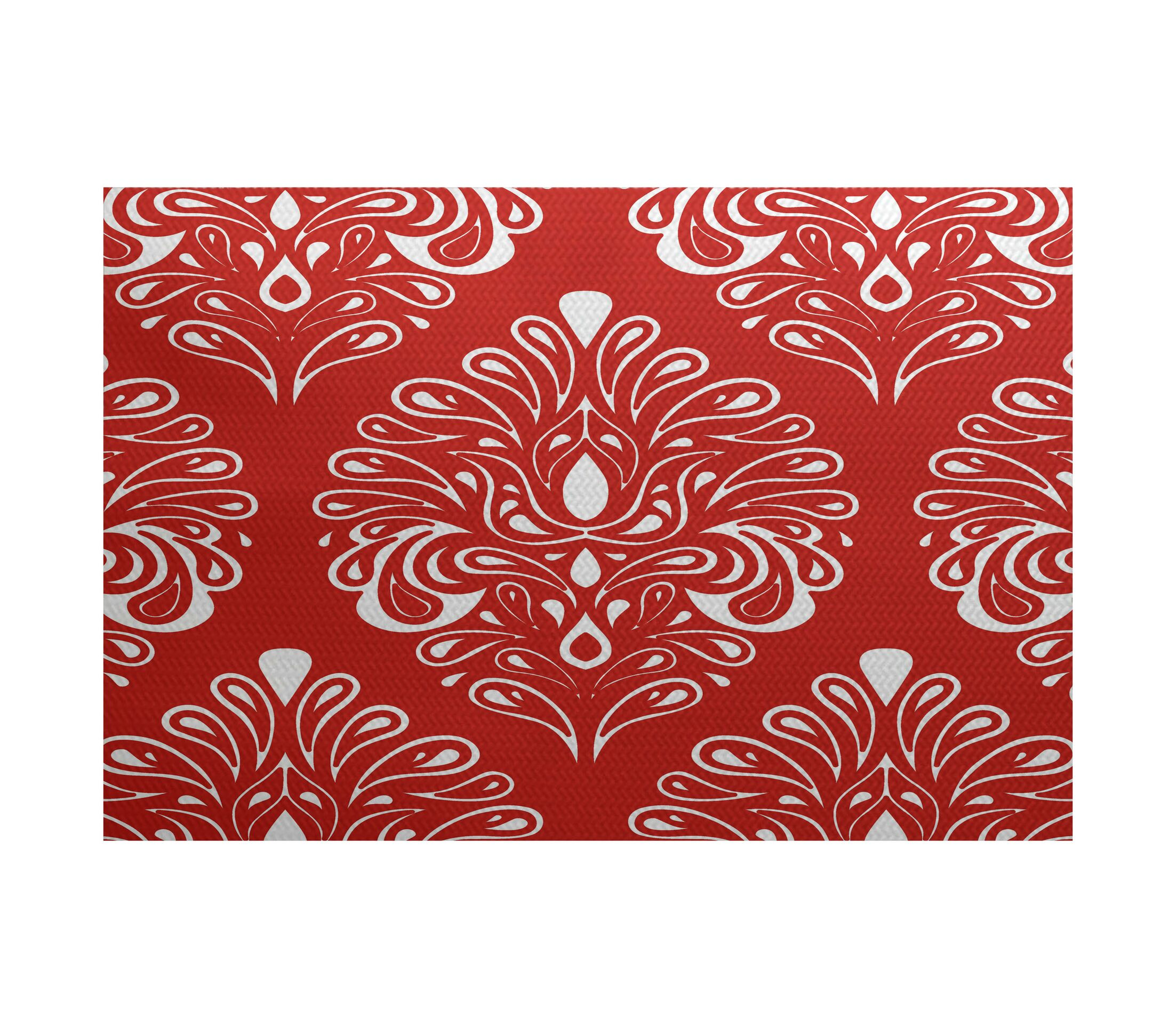 Harmen Red Indoor/Outdoor Area Rug Rug Size: Rectangle 2' x 3'