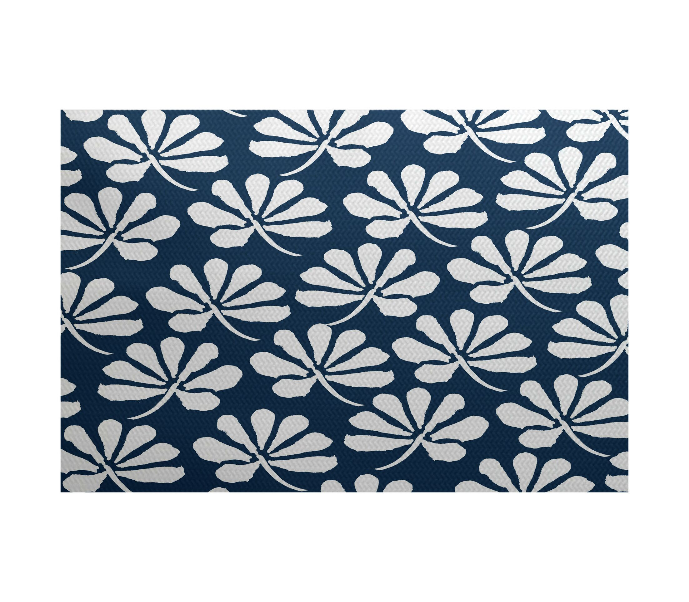 Velasquez Blue Indoor/Outdoor Area Rug Rug Size: Rectangle 3' x 5'