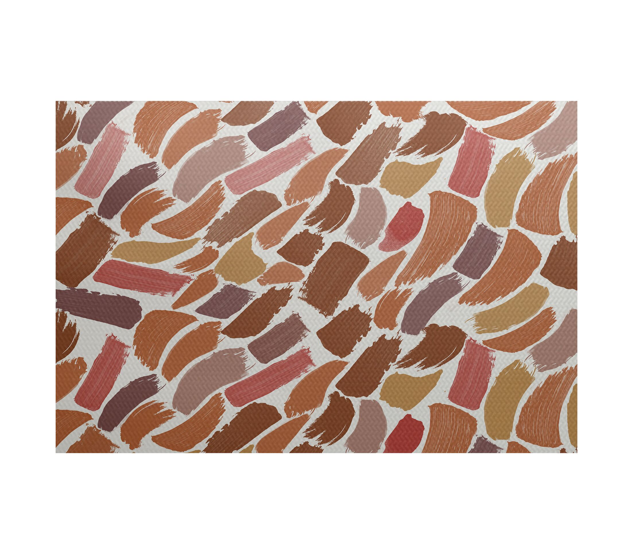 Goodlow Abstract Orange Area Rug Rug Size: Rectangle 5' x 7'