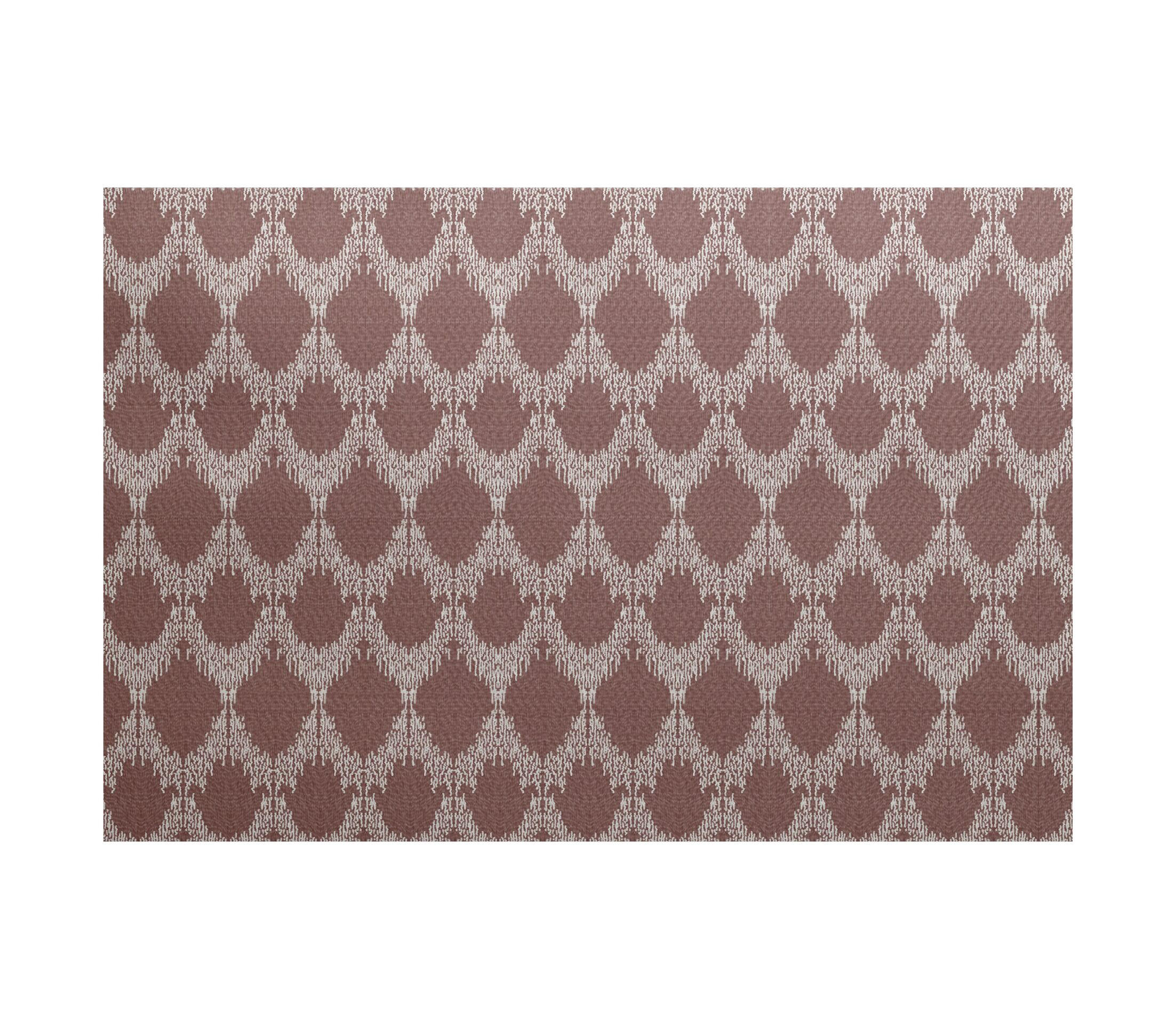 Lassiter Flat Woven Geometric Maroon Area Rug Rug Size: Rectangle 3' x 5'