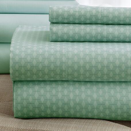 Solid Sheet Set Size: King, Color: Sage