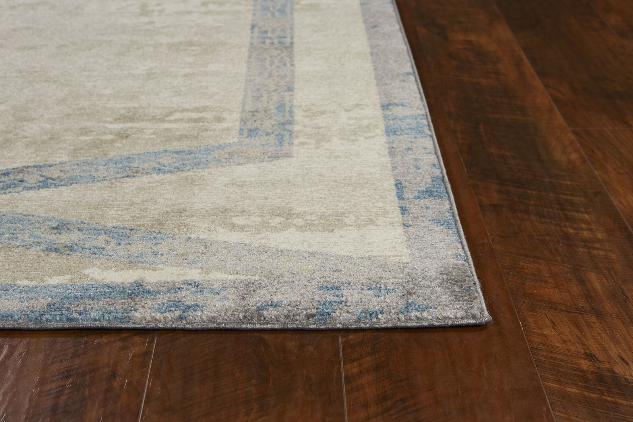 Winston Target Overlay Tan Area Rug Rug Size: Runner 2'3
