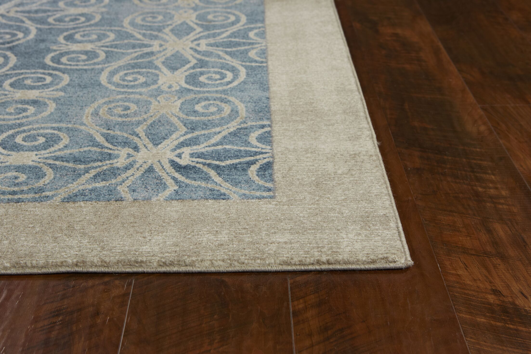 Winston Looking Glass Teal Area Rug Rug Size: Runner 2'3