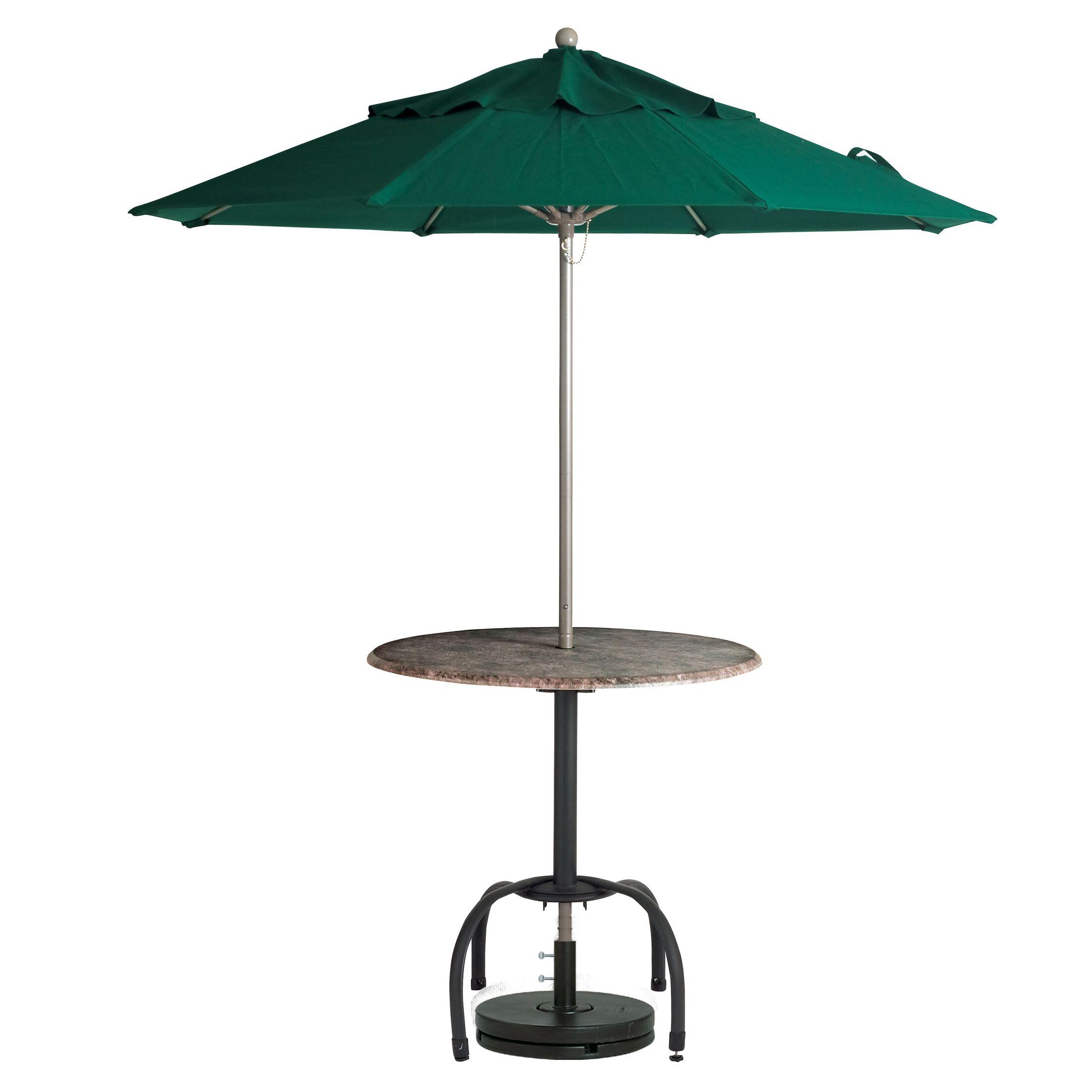 Ivana 7.5' Market Umbrella Fabric: Forest Green