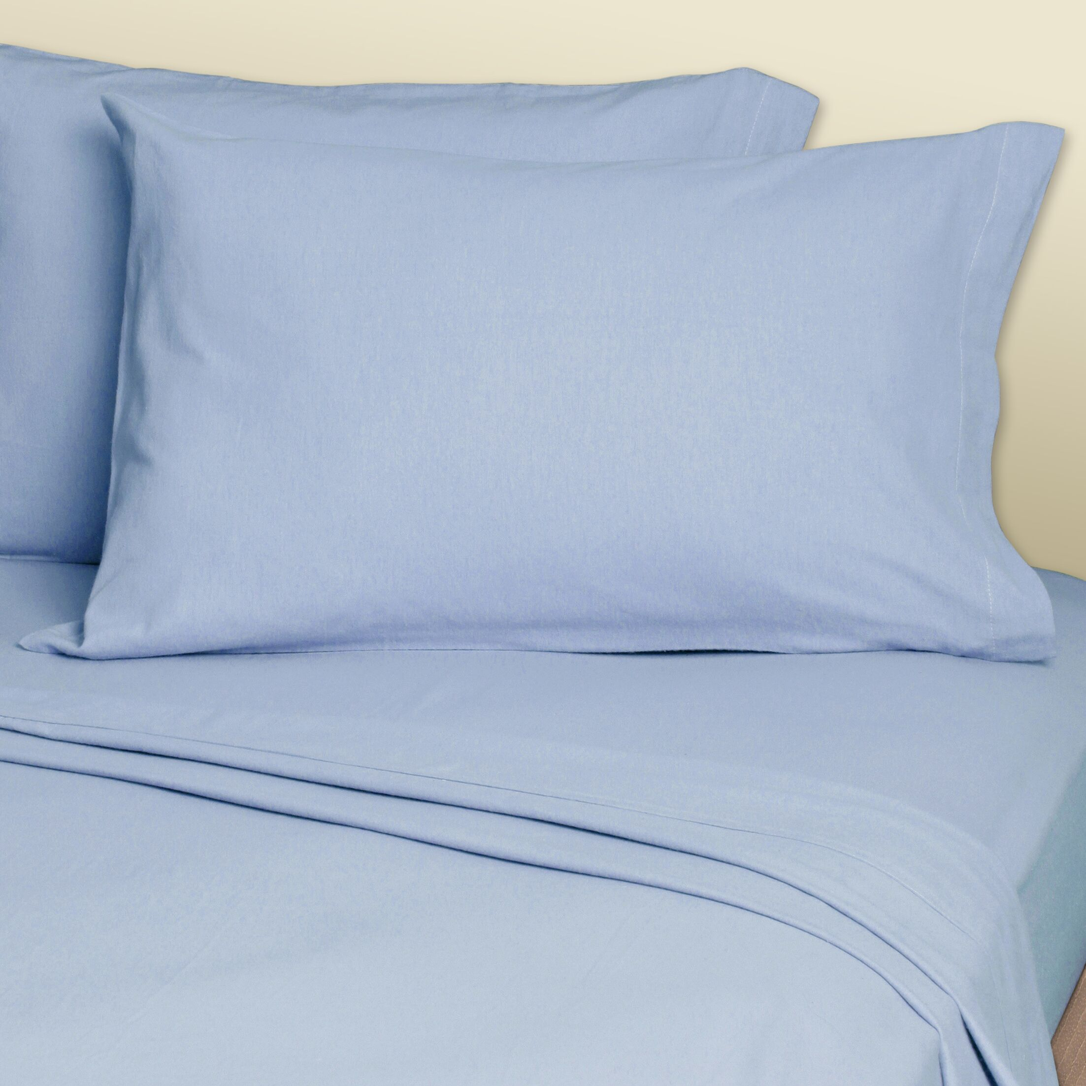 4 Piece 200 Thread Count Convert-A-Fit Waterbed Sheet Set Size: King, Color: Medium Blue
