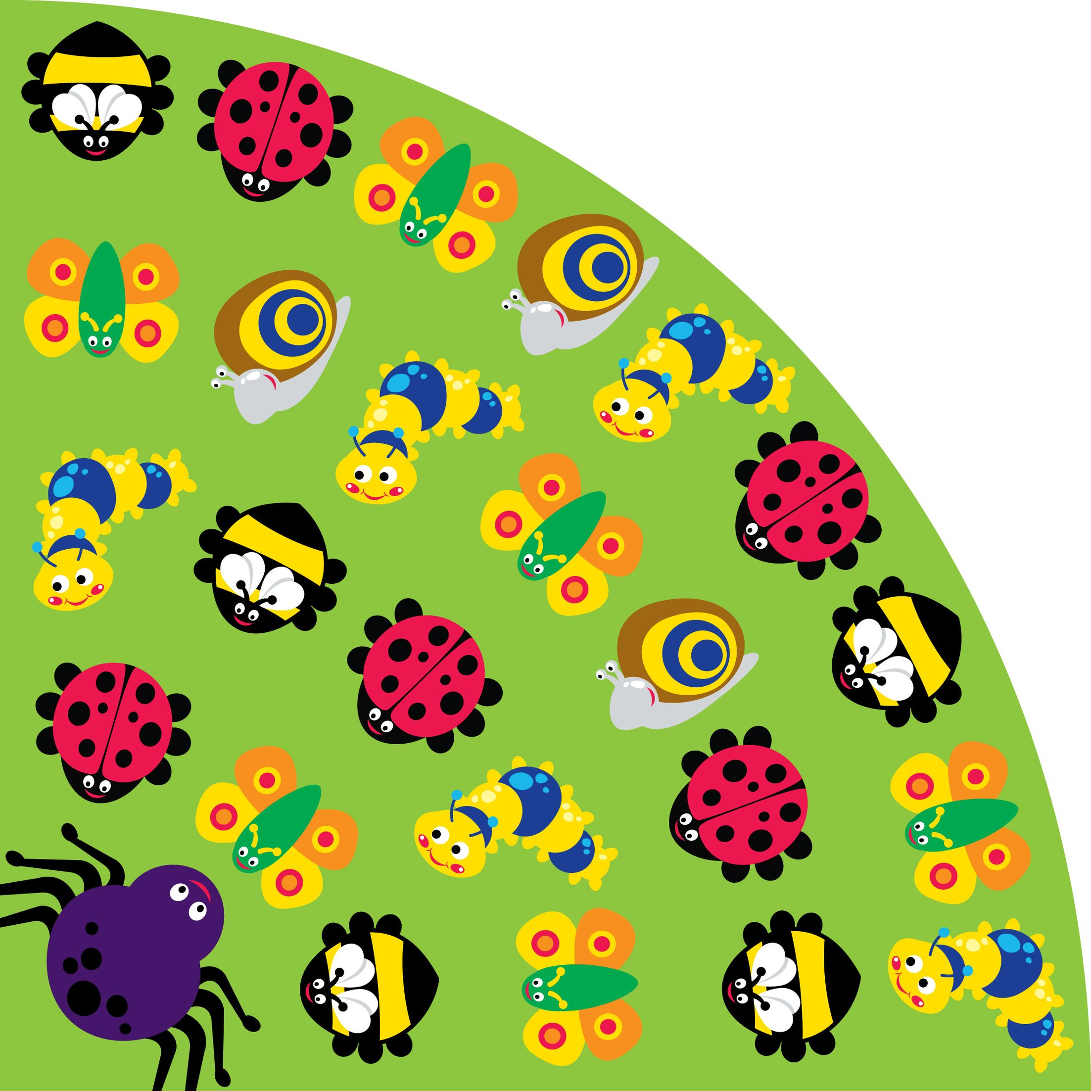 Back to Nature Bug Green Kids Rug Rug Size: Wedge 9'10