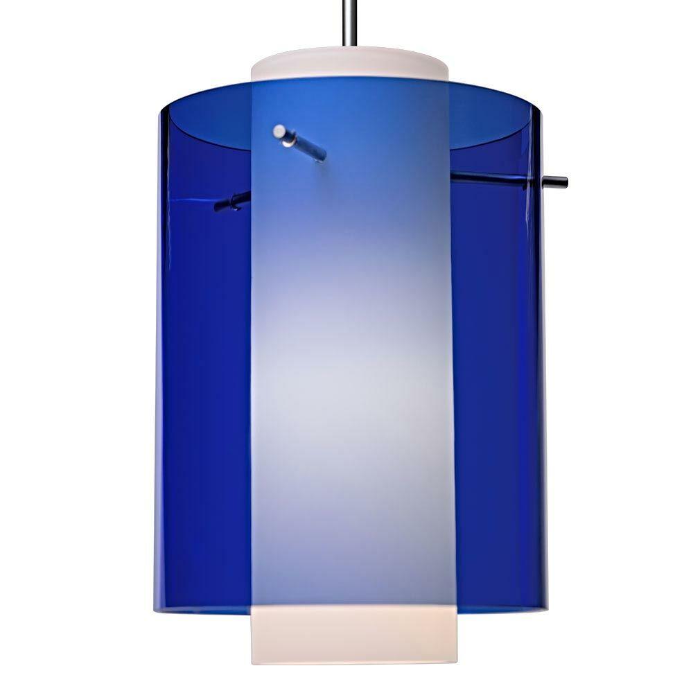 Rome 1-Light Cylinder Pendant Bulb Type: Incandescent, Color: Matte Chrome, Shade Color: Blue