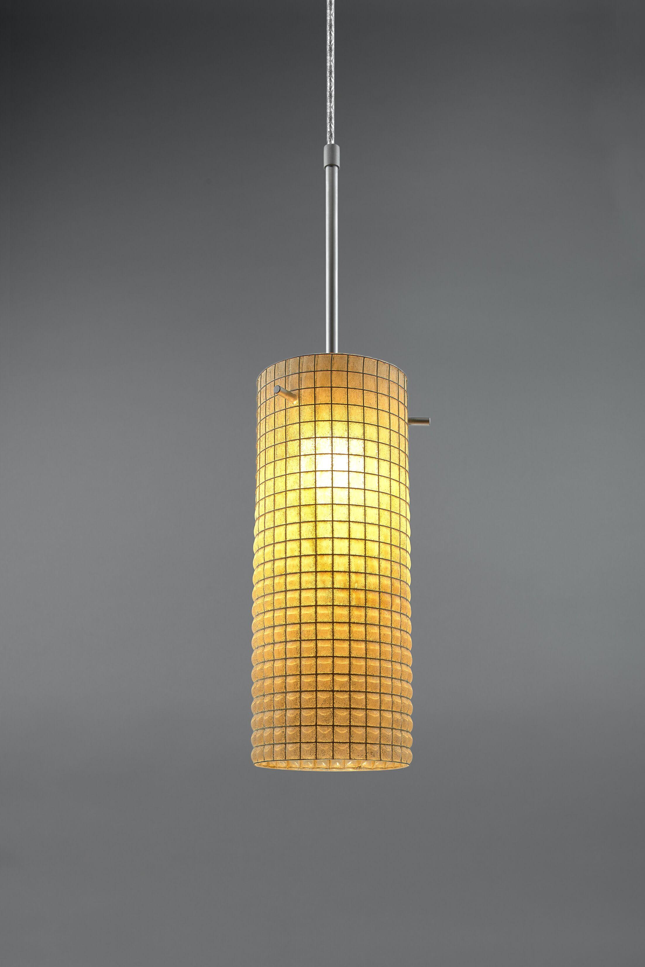Sierra 1-Light Cylinder Pendant Color: Chrome, Shade Color: Amber