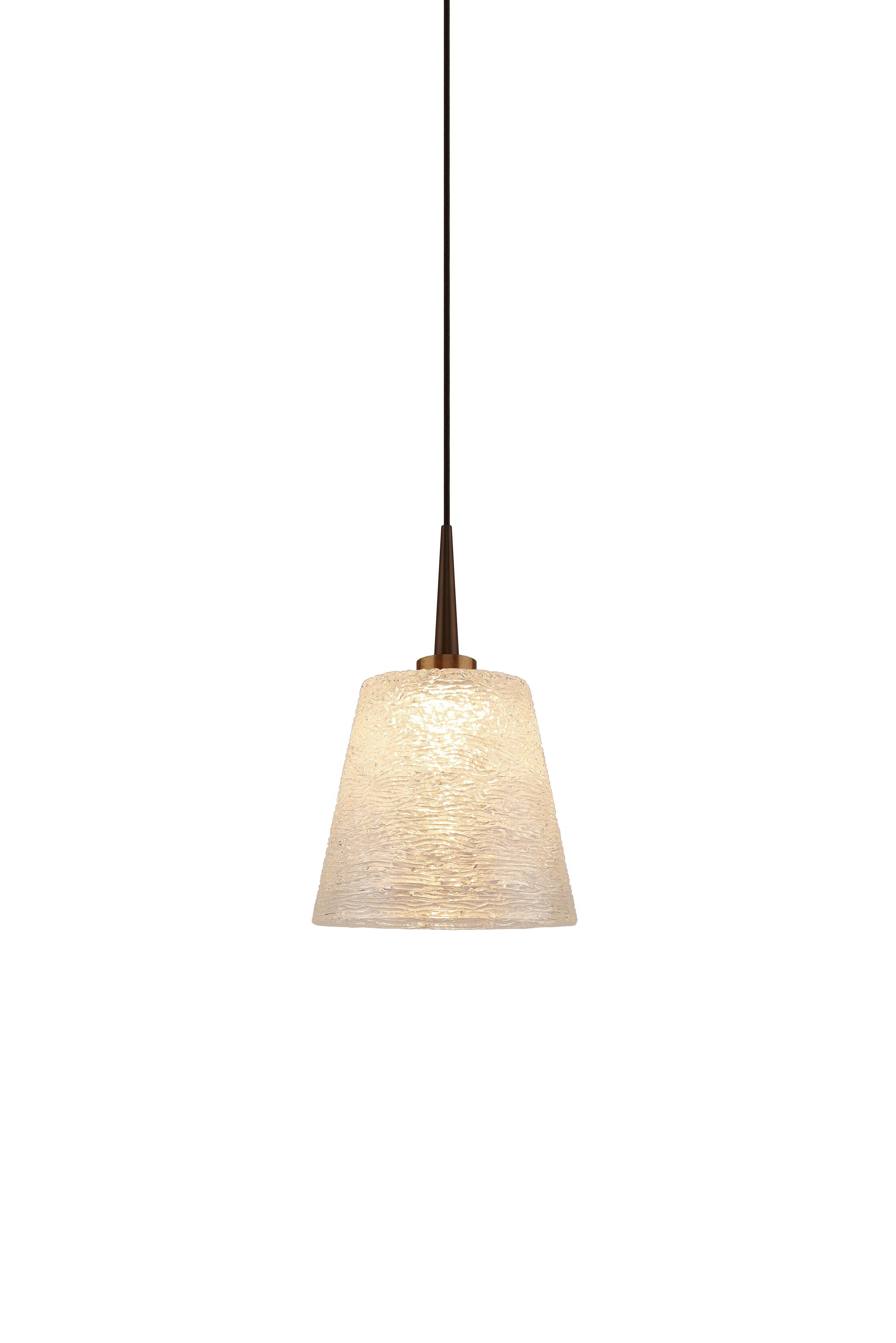 Bling 1-Light Cone Pendant Shade Color: Gold, Color: Bronze