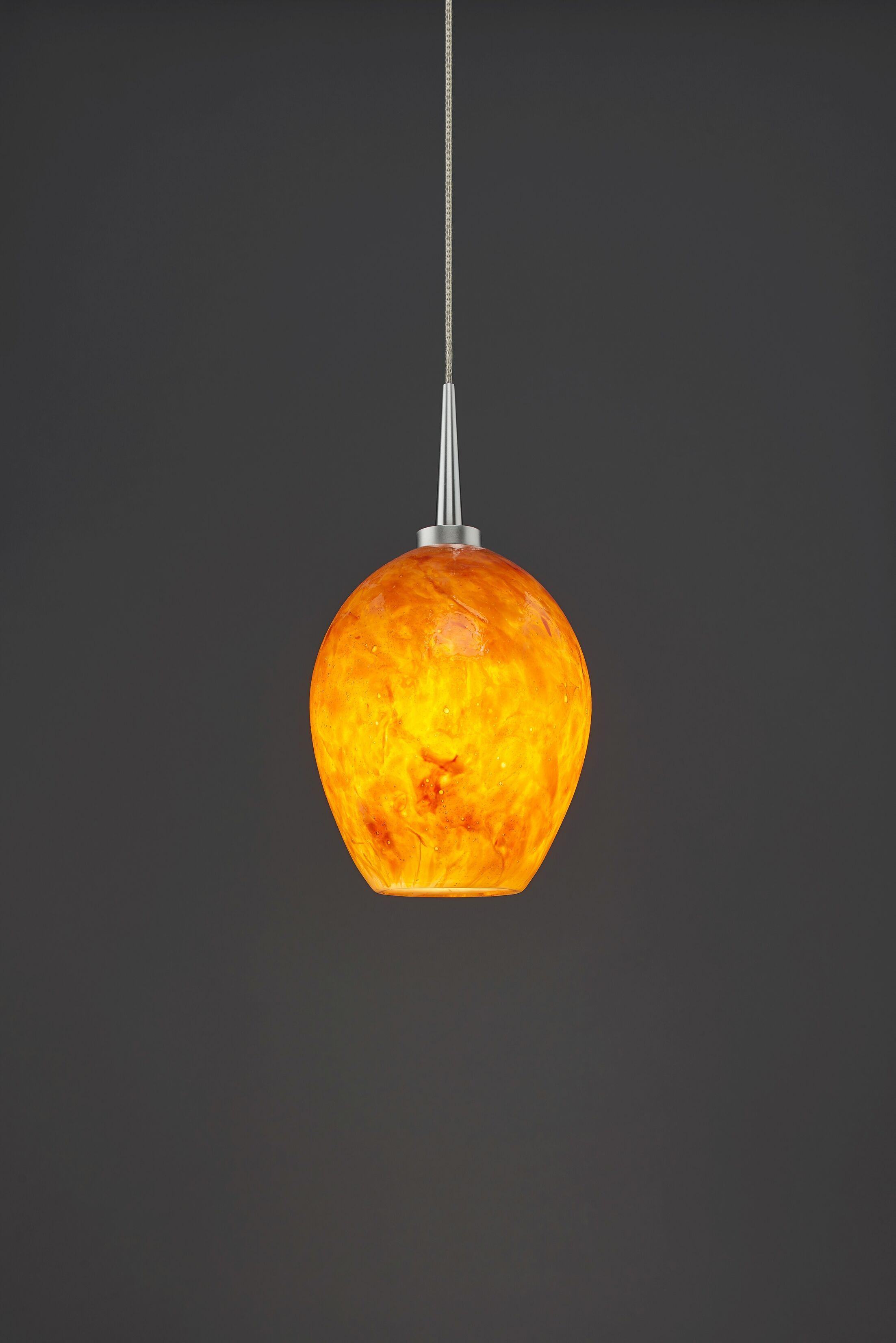 Bolero 1-Light Cone Pendant Shade Color: Amber, Color: Matte Chrome