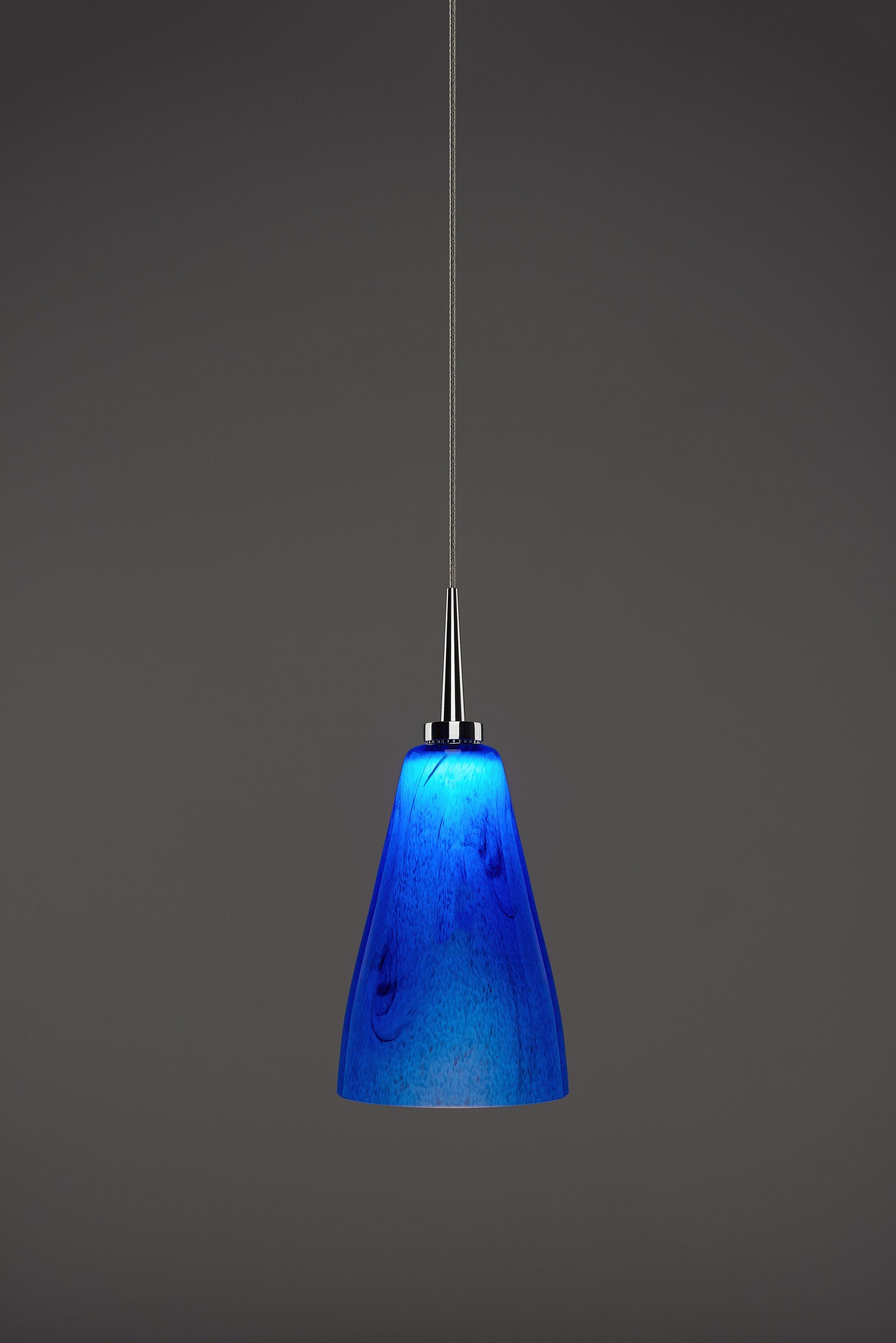 Zara 1-Light Cone Pendant Color: Chrome