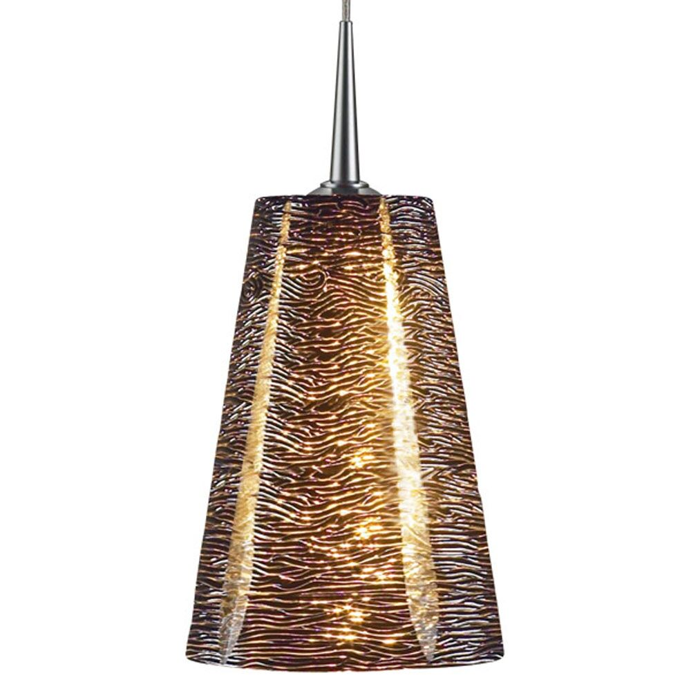 Bling 1-Light Cone Pendant Color: Matte Chrome, Shade Color: Black