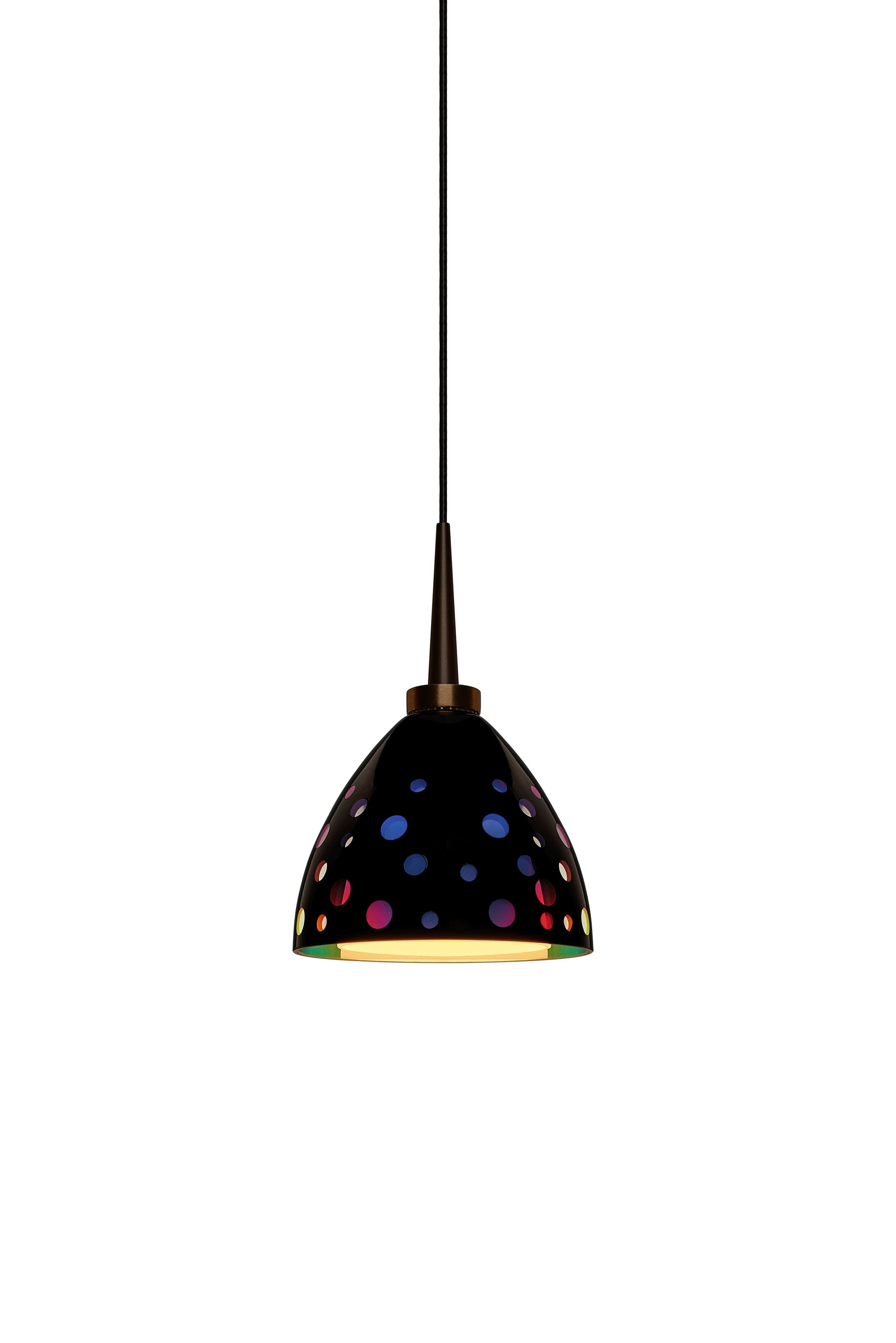 Rainbow 1-Light Cone Pendant Color: Bronze