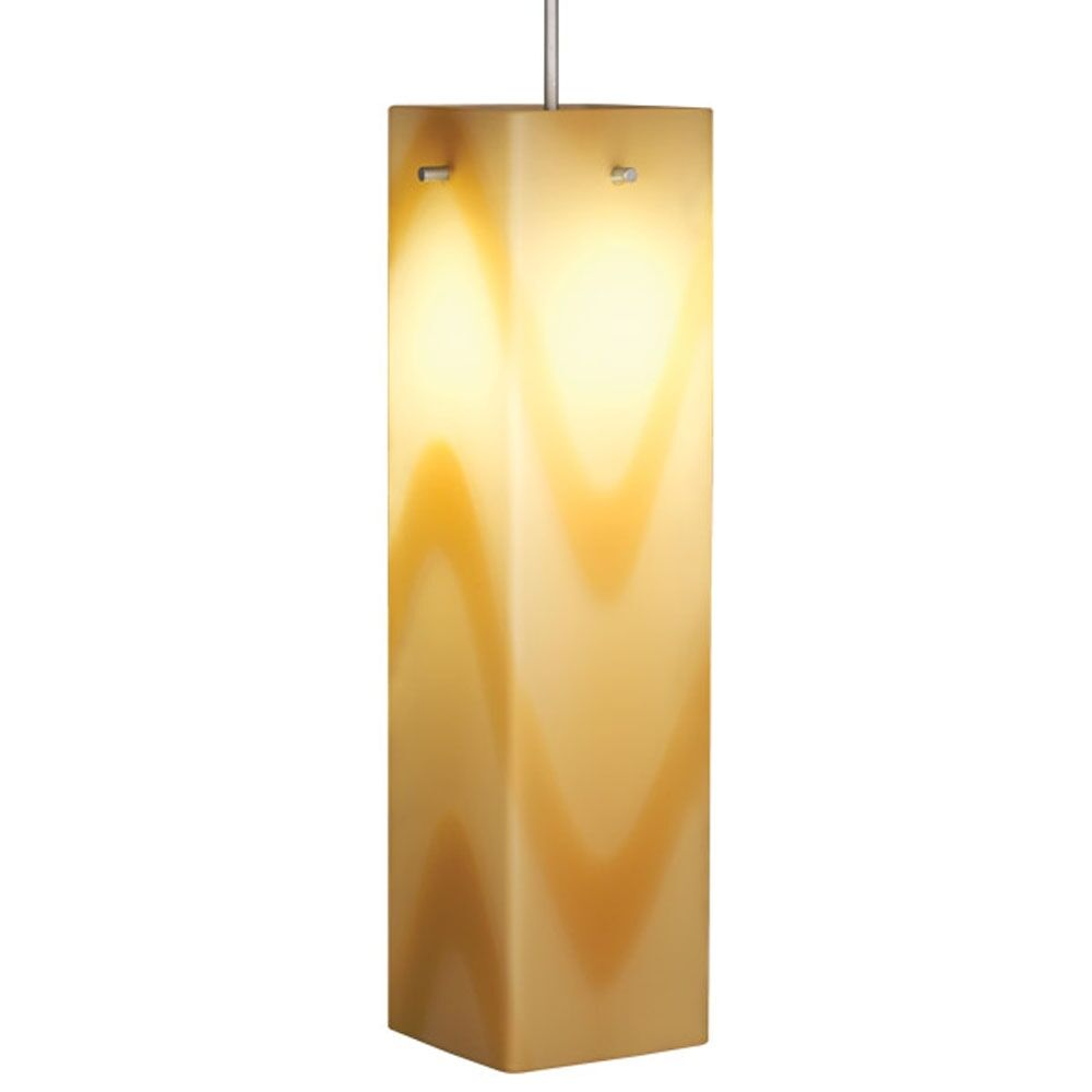Houston 1-Light Square/Rectangle Pendant Color: Bronze, Shade Color: Red
