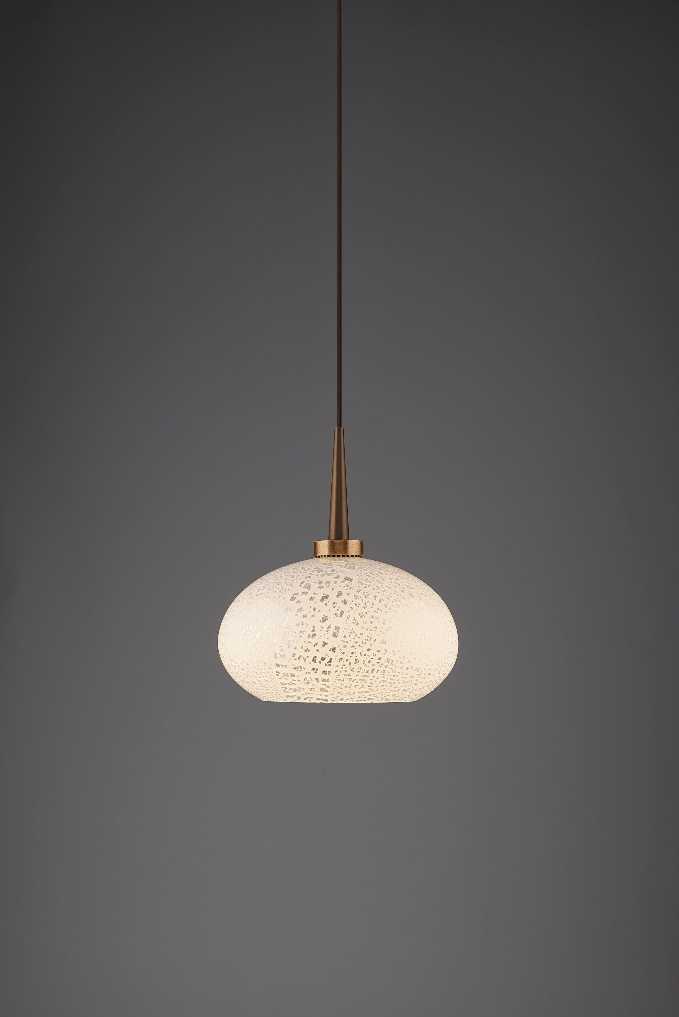 Laguna 1-Light Globe Pendant Color: Bronze