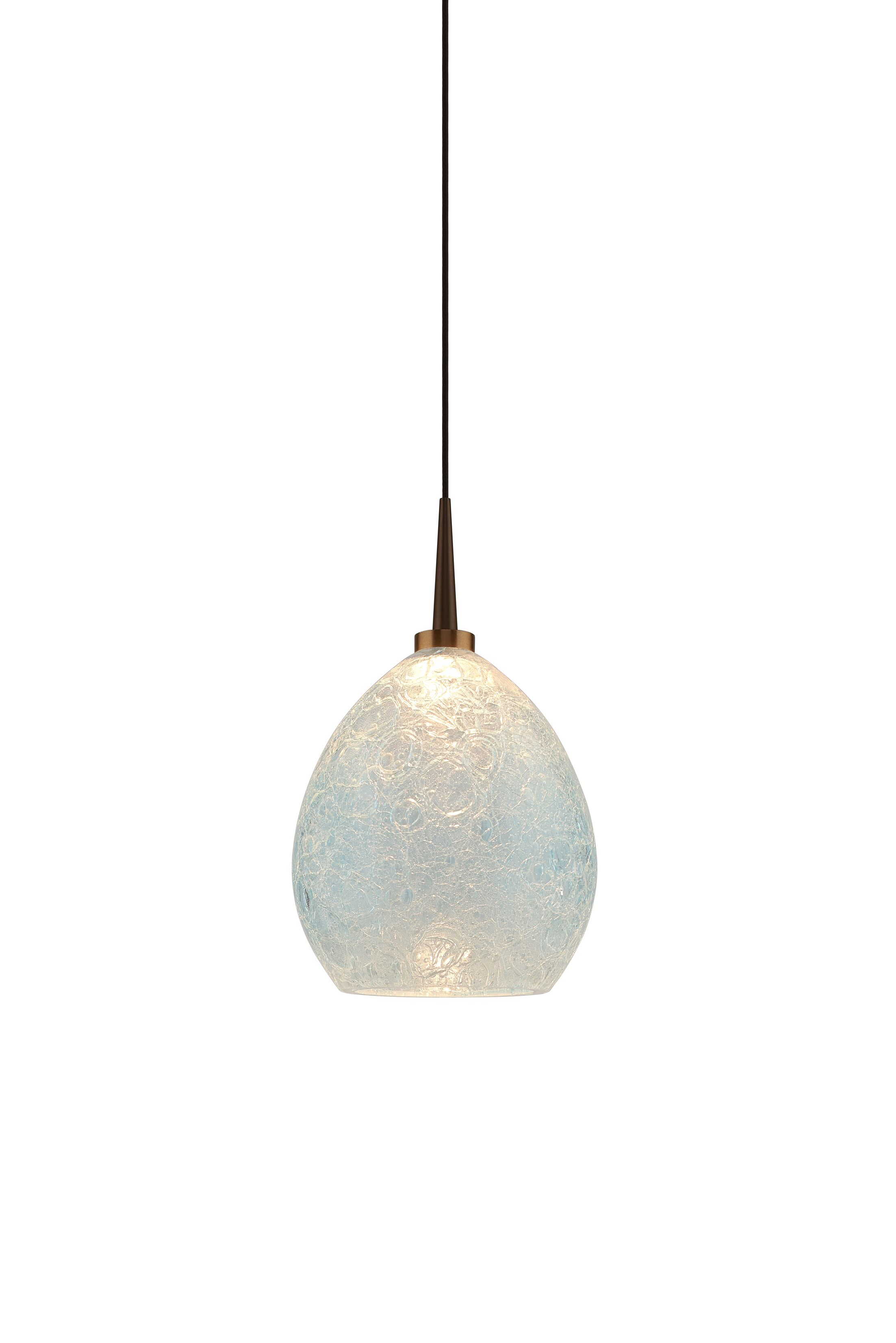Vibe 1-Light Cone Pendant Color: Bronze, Shade Color: Glacier