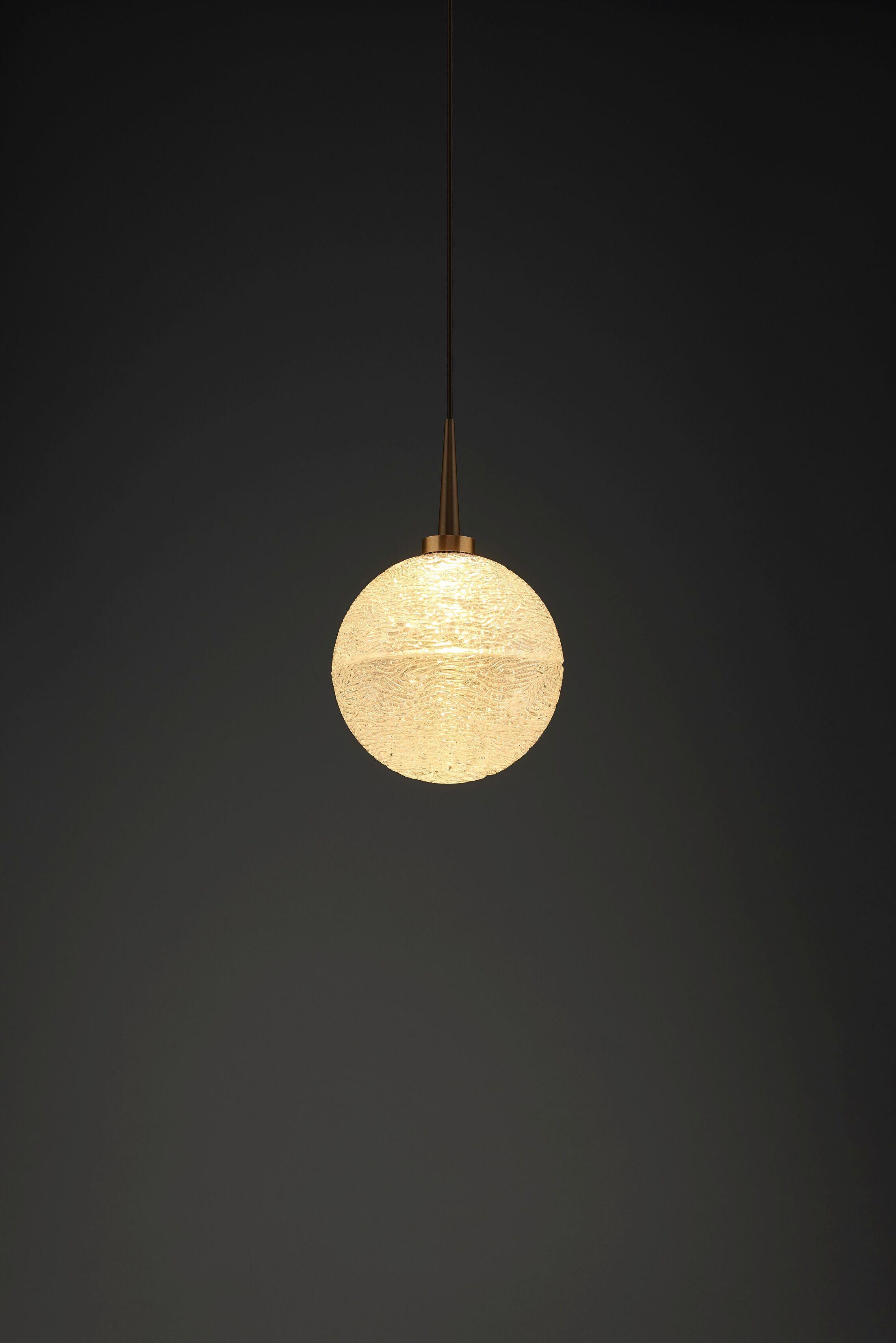Dazzle 1-Light Monopoint Globe Pendant Color: Bronze, Shade Color: Clear
