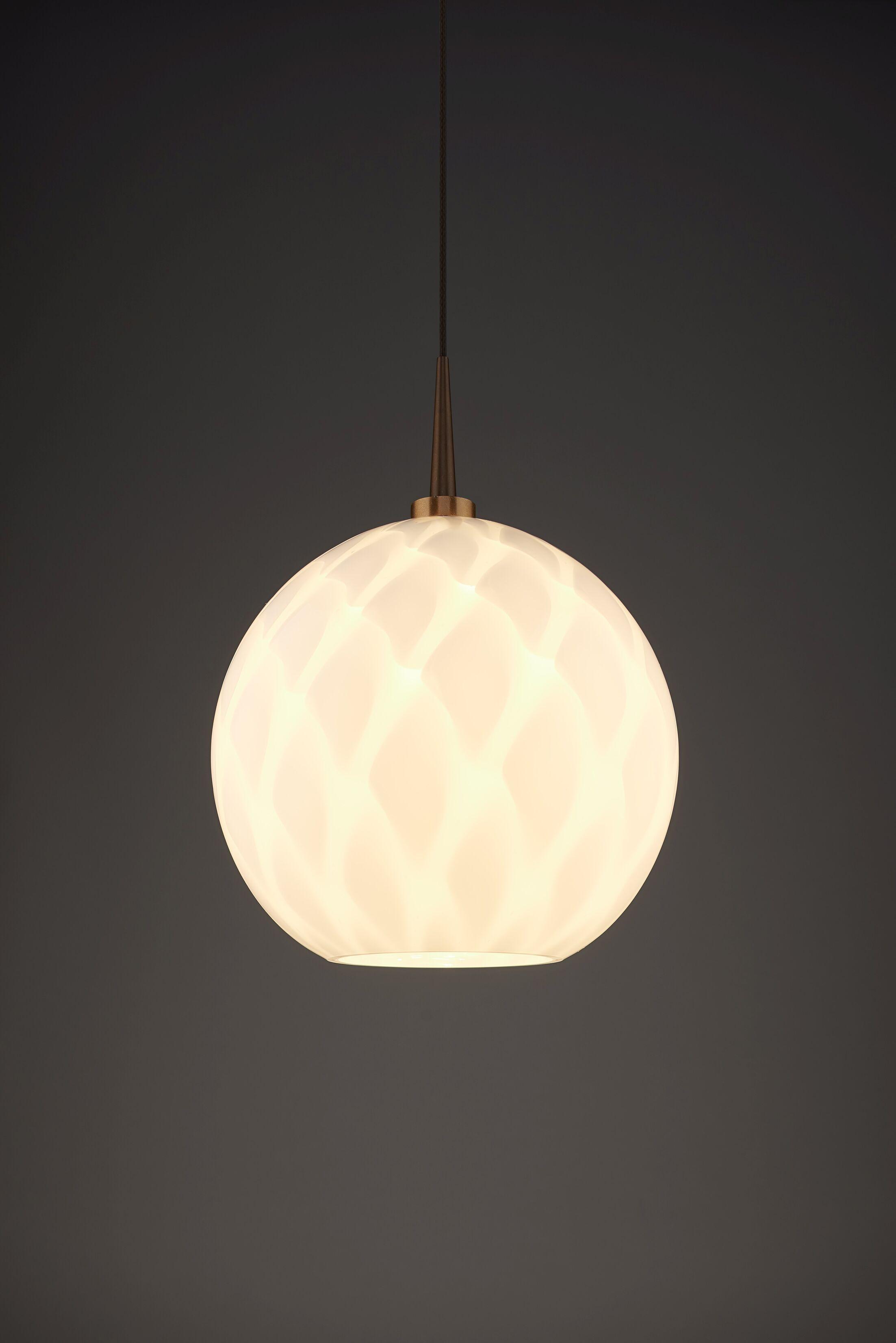 Sirena 1-Light Globe Pendant Color: Bronze, Shade Color: White