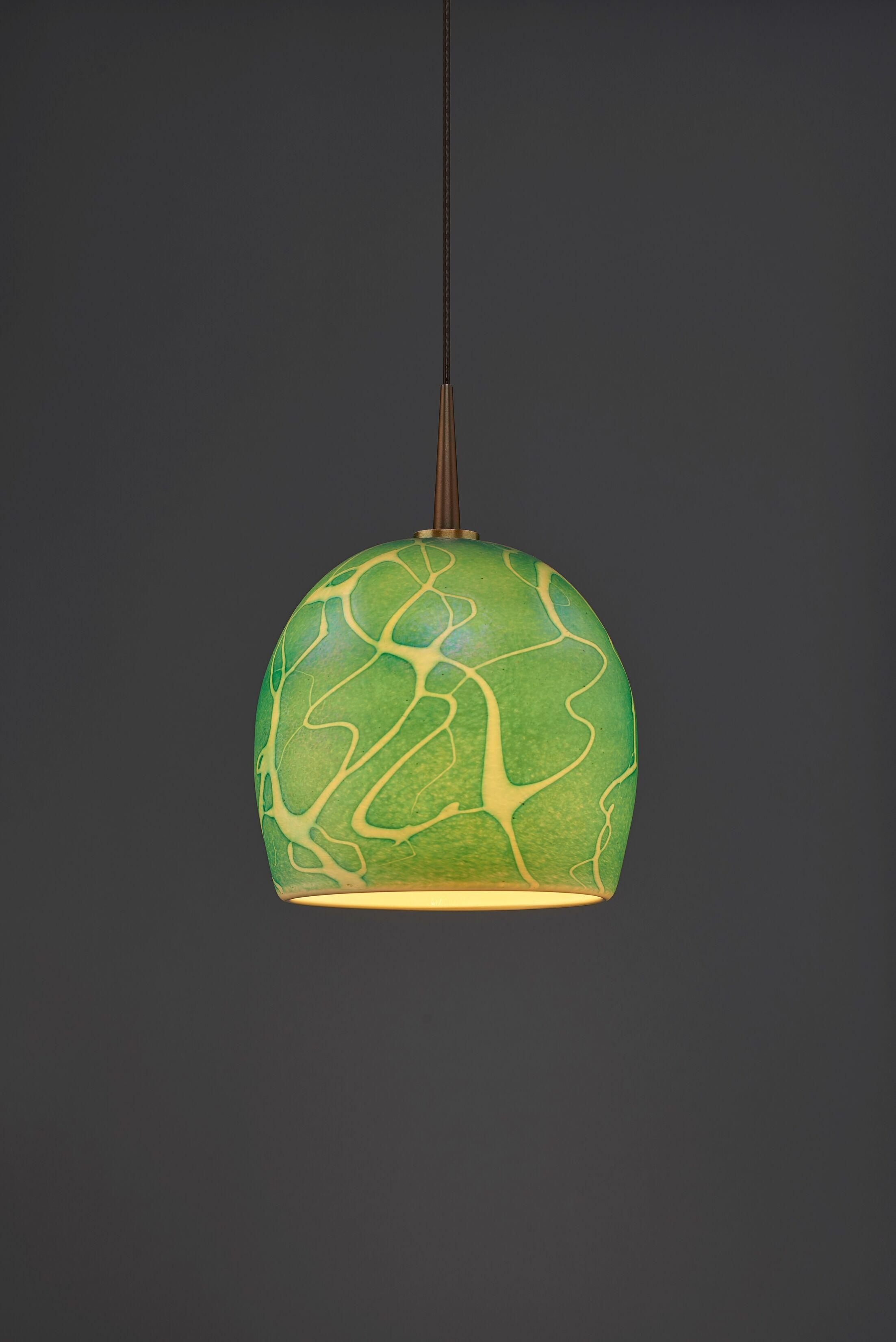 Delta 1-Light Dome Pendant Color: Bronze, Shade Color: Seafoam