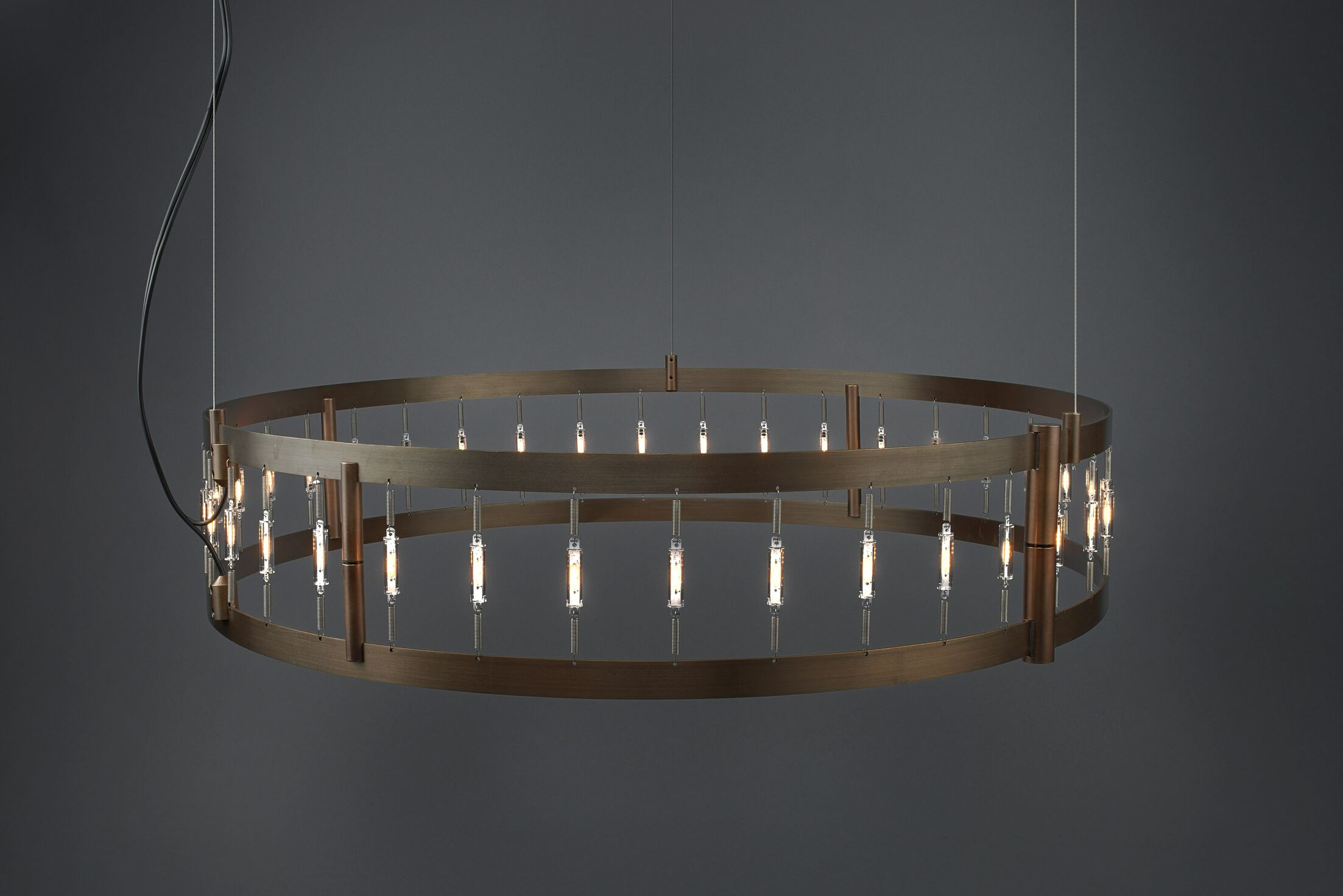 Flight 39-Light Drum Chandelier