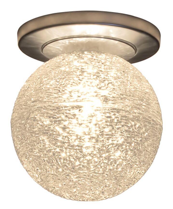 Dazzle 1-Light Flush Mount Shade Color: Clear, Color: Matte Chrome