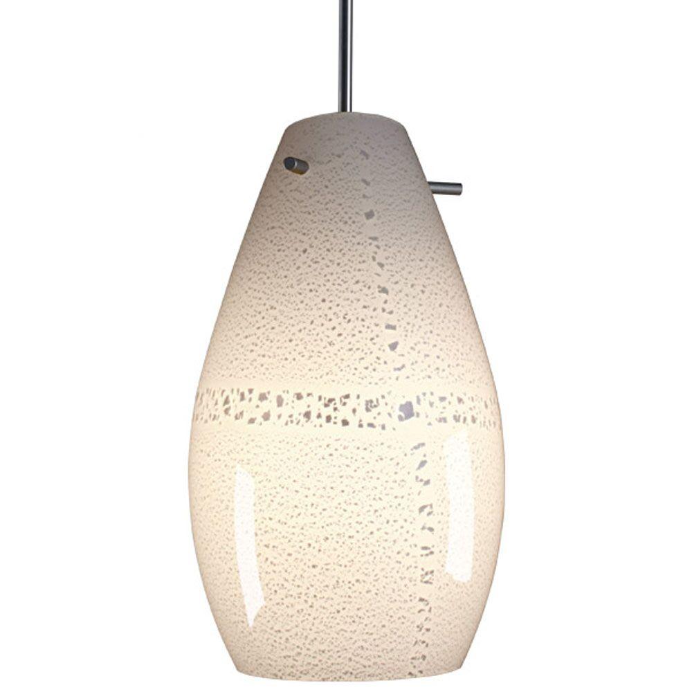 Soho Mono Point Pendant Light Color: Chrome, Bulb Type: GU24 CFL, Shade Color: White