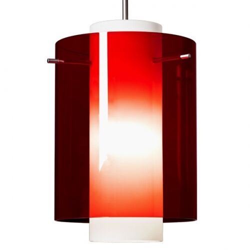 Rome 1  LED Cylinder Pendant Color: Bronze, Shade Color: Clear