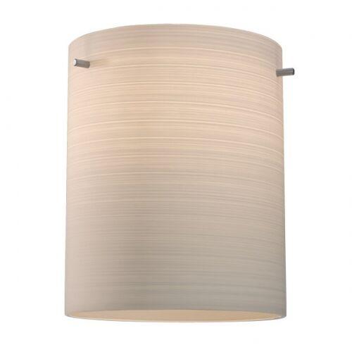 Regal 1-Light Cylinder Pendant Color: Bronze, Shade Color: White