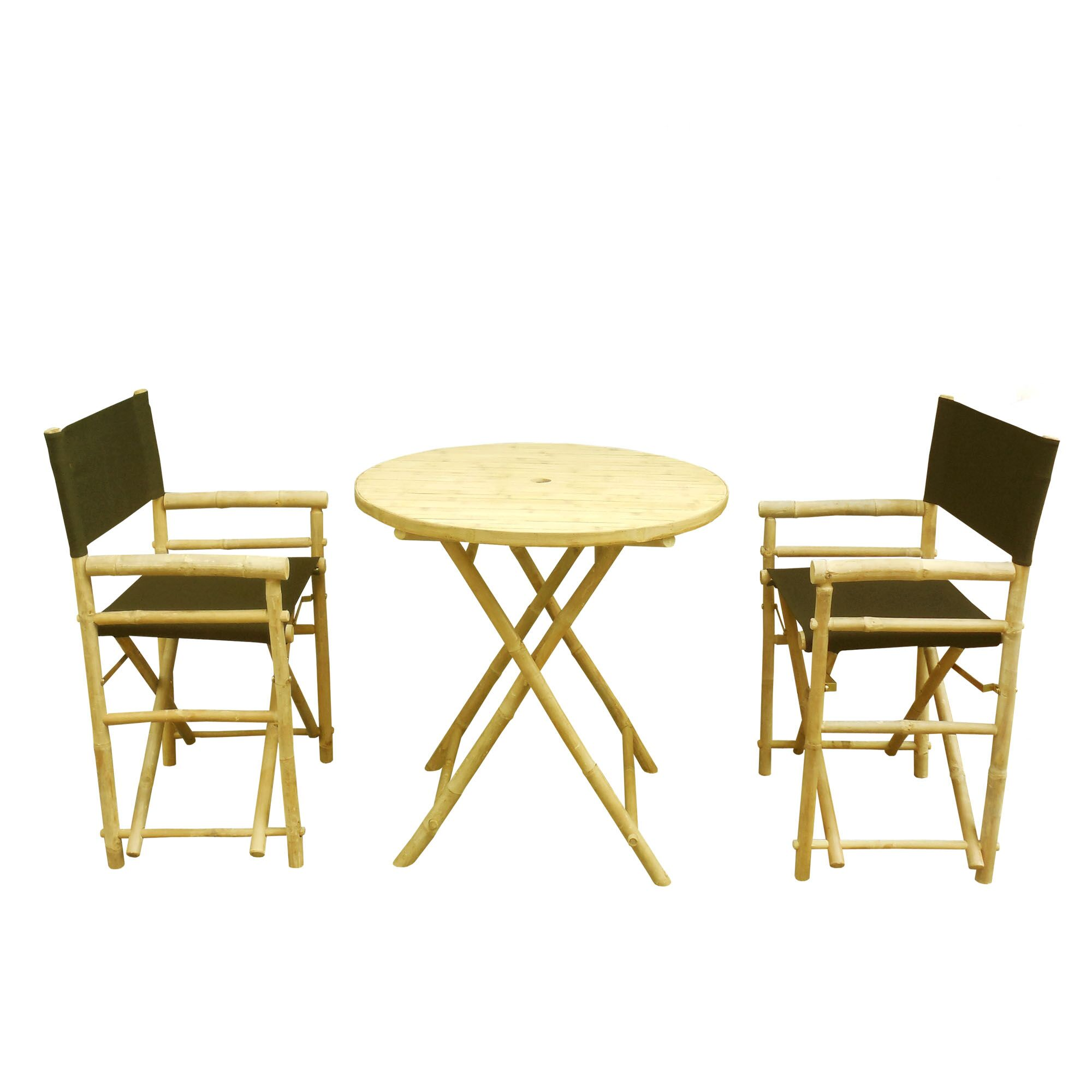 3 Piece Bar Height Dining Set Color: Black