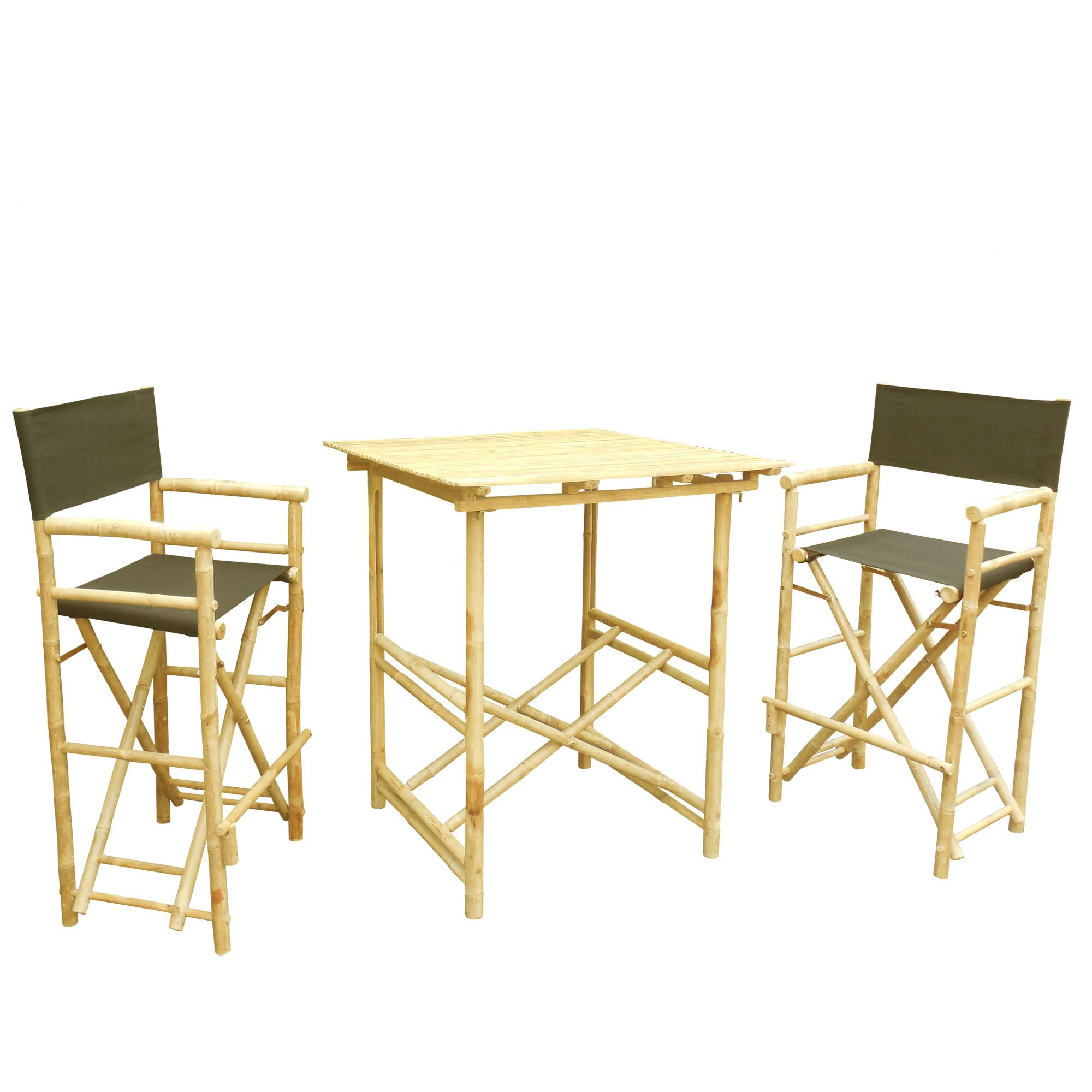 3 Piece Bar Height Dining Set with Cushion Color: Black
