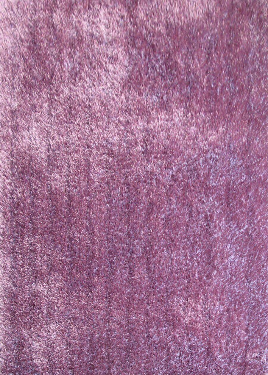 Shaggy Viscose Solid Lavender Area Rug Rug Size: 5' x 7'