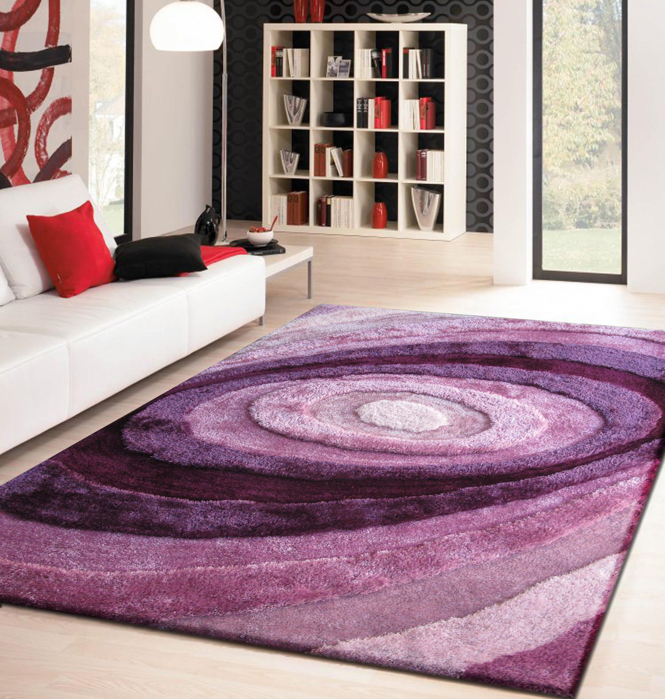 Sherlock Hand-Tufted Lavender Area Rug Rug Size: Rectangle 5' x 7'