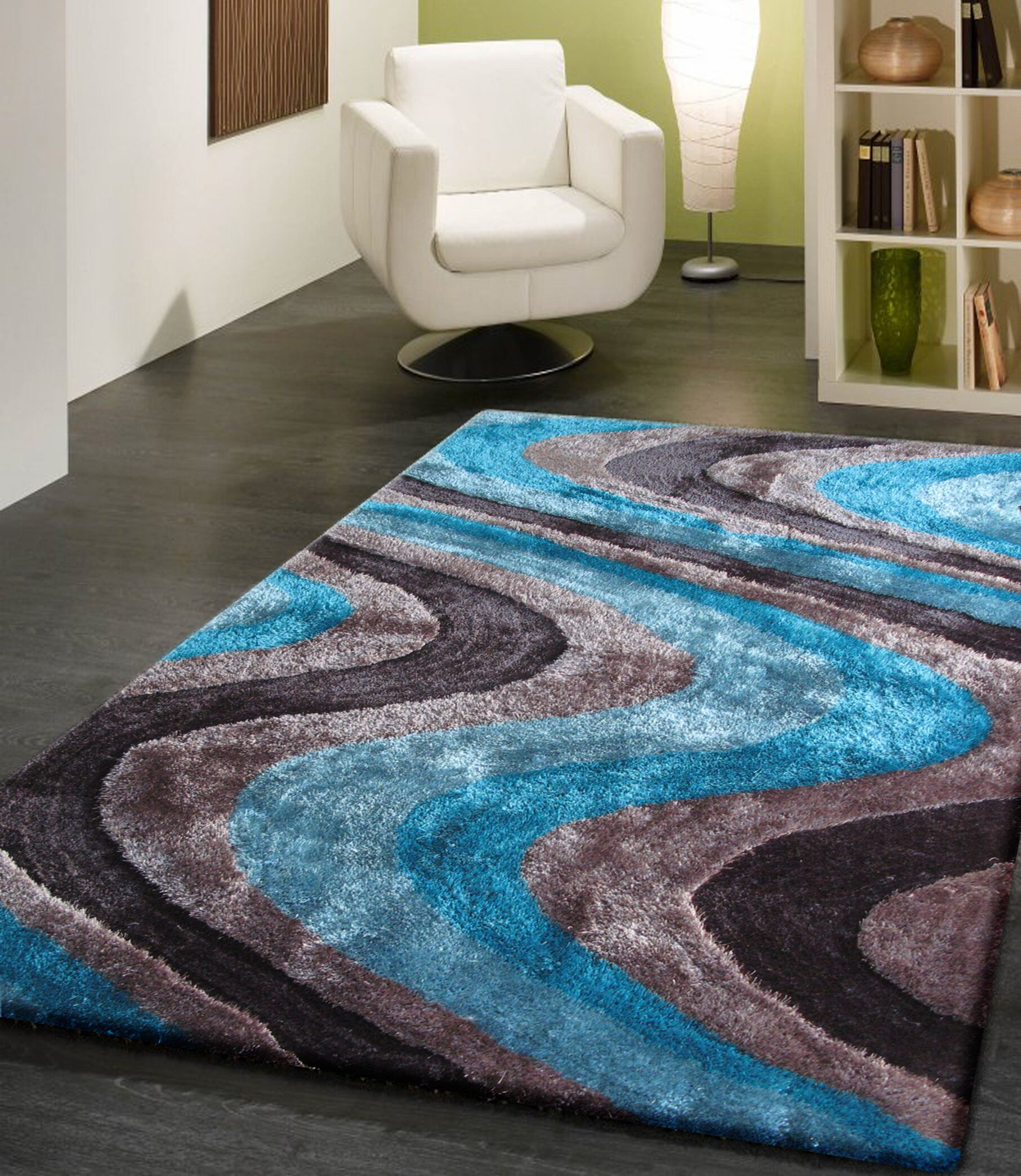 Quijada Hand-Tufted Gray/Blue Area Rug