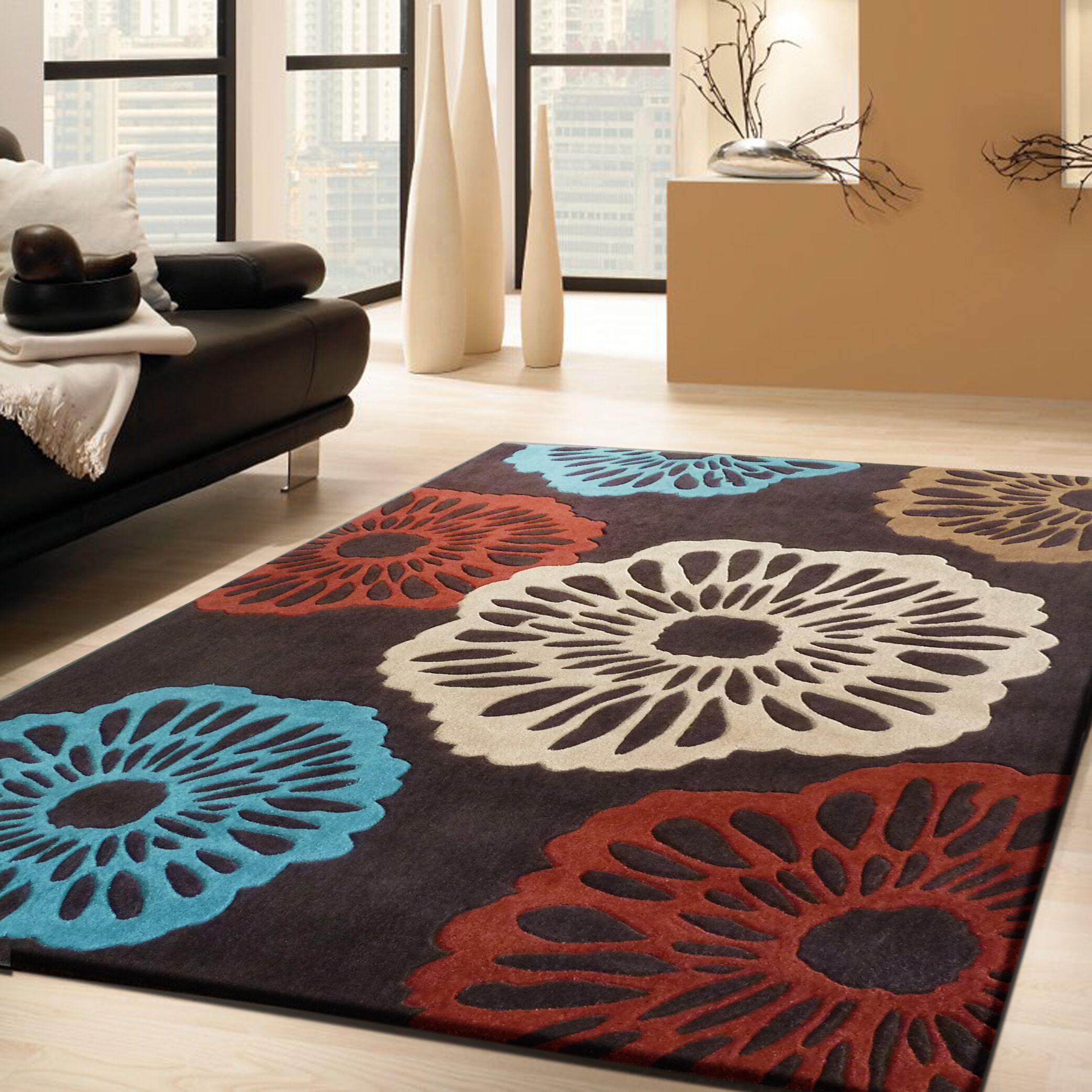 Consolata Transitional Hand Woven Brown Indoor Area Rug