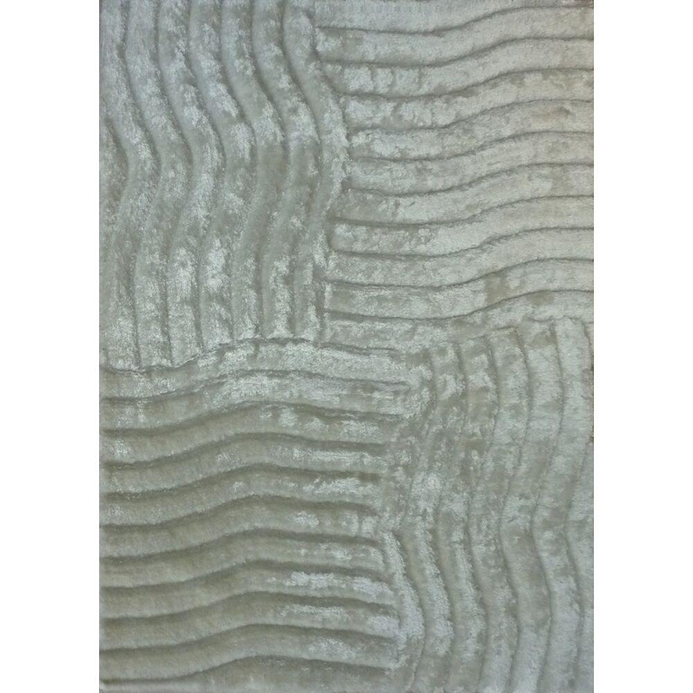 Shaggy 3D Gray Area Rug Rug Size: 5' x 7'