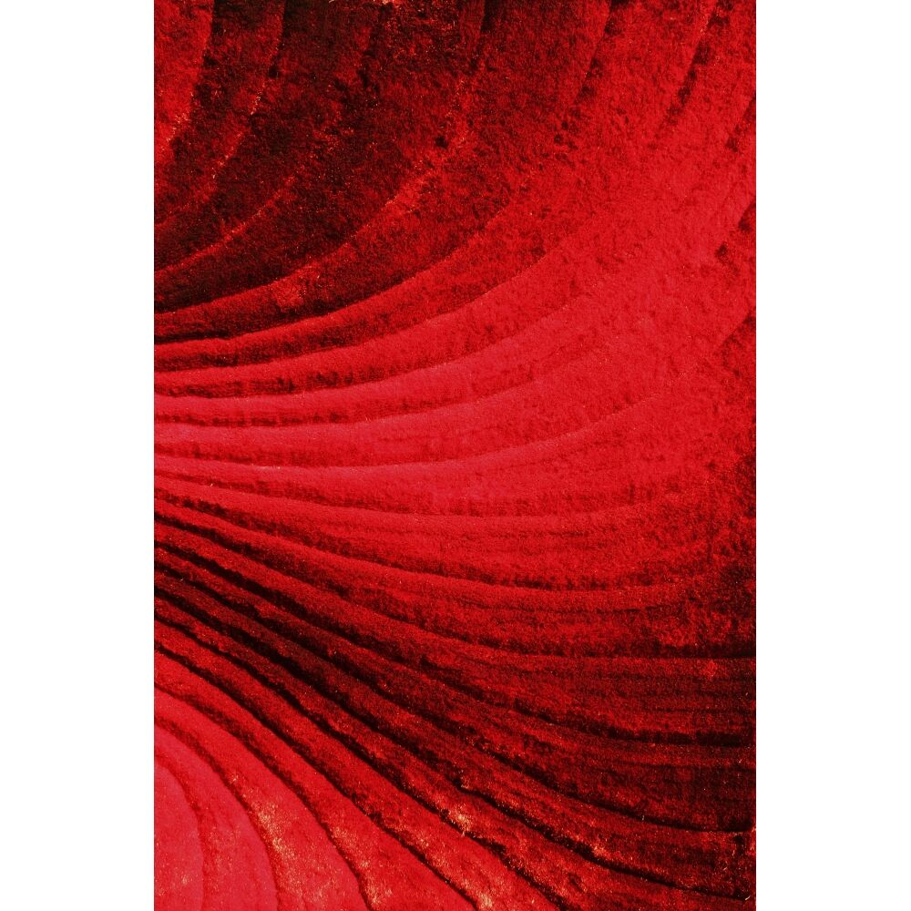 Shaggy 3D Red Area Rug Rug Size: 7'6