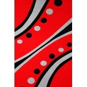 Geo Red Area Rug Rug Size: 7'9