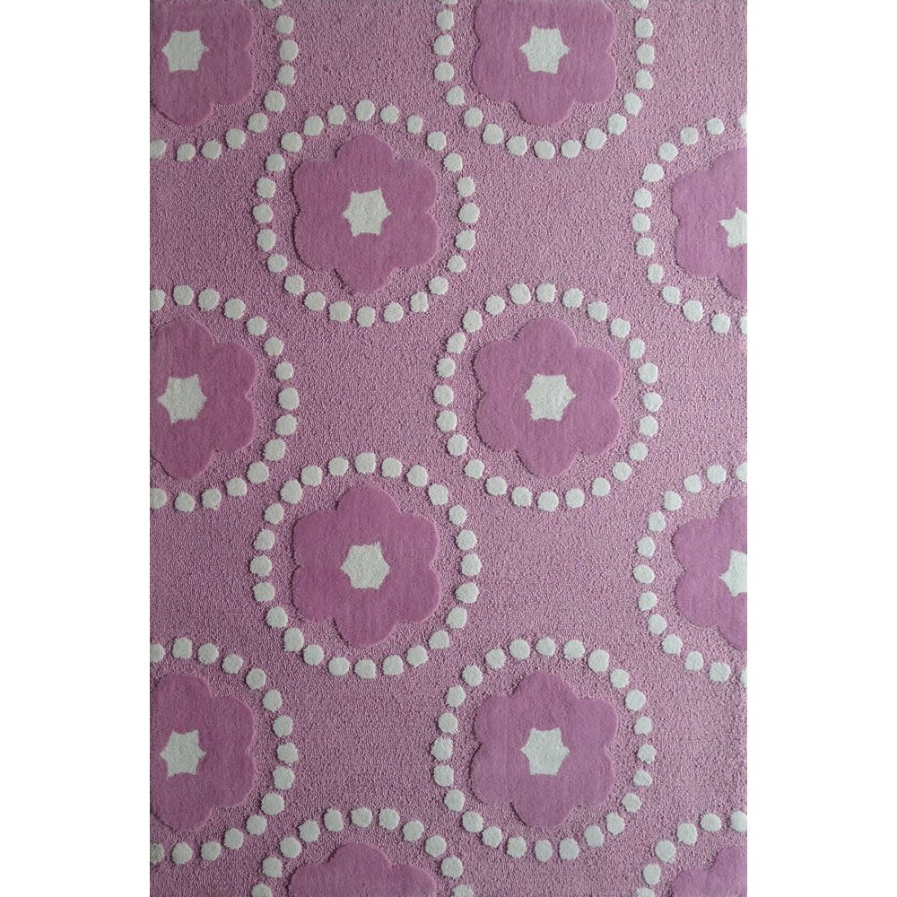 Zoomania Hand-Tufted Pink/Ivory Area Rug