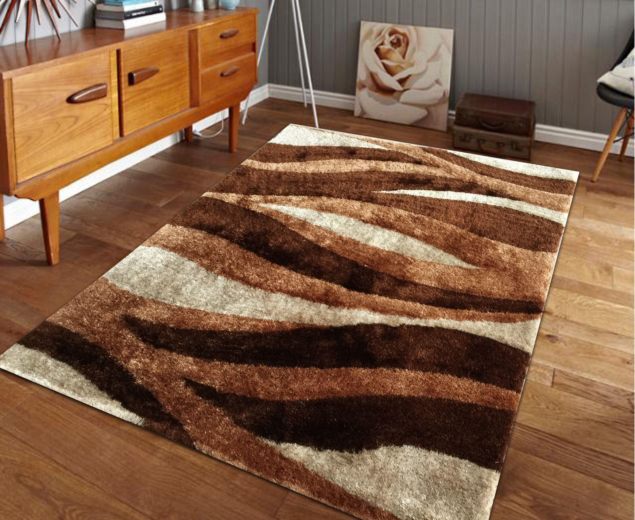 Lo-La Hand-Tufted Brown Indoor/Outdoor Area Rug Rug Size: 8' x 11'