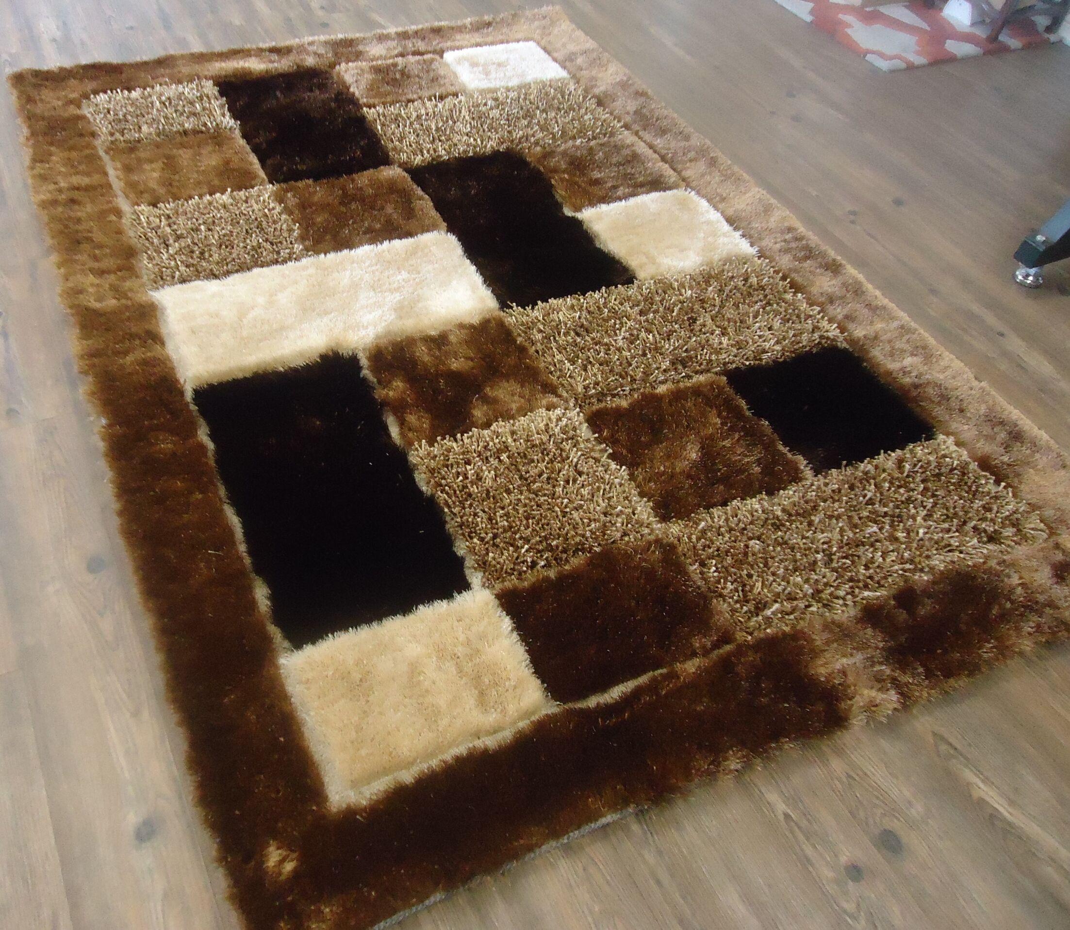 Palu Shaggy Hand-Tufted Brown Area Rug