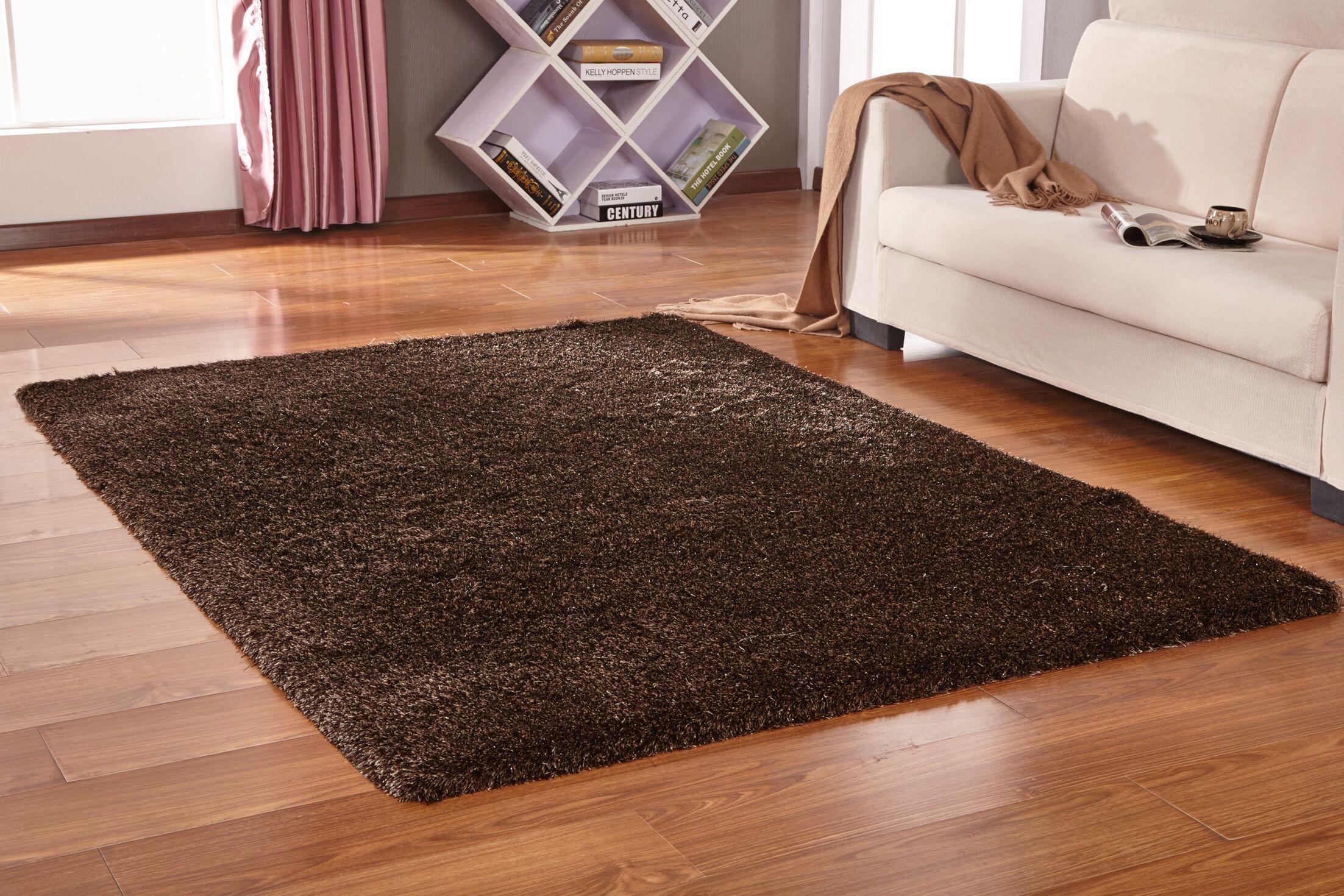 Vinci Hand-Tufted Brown Area Rug Rug Size: Rectangle 5' x 7'