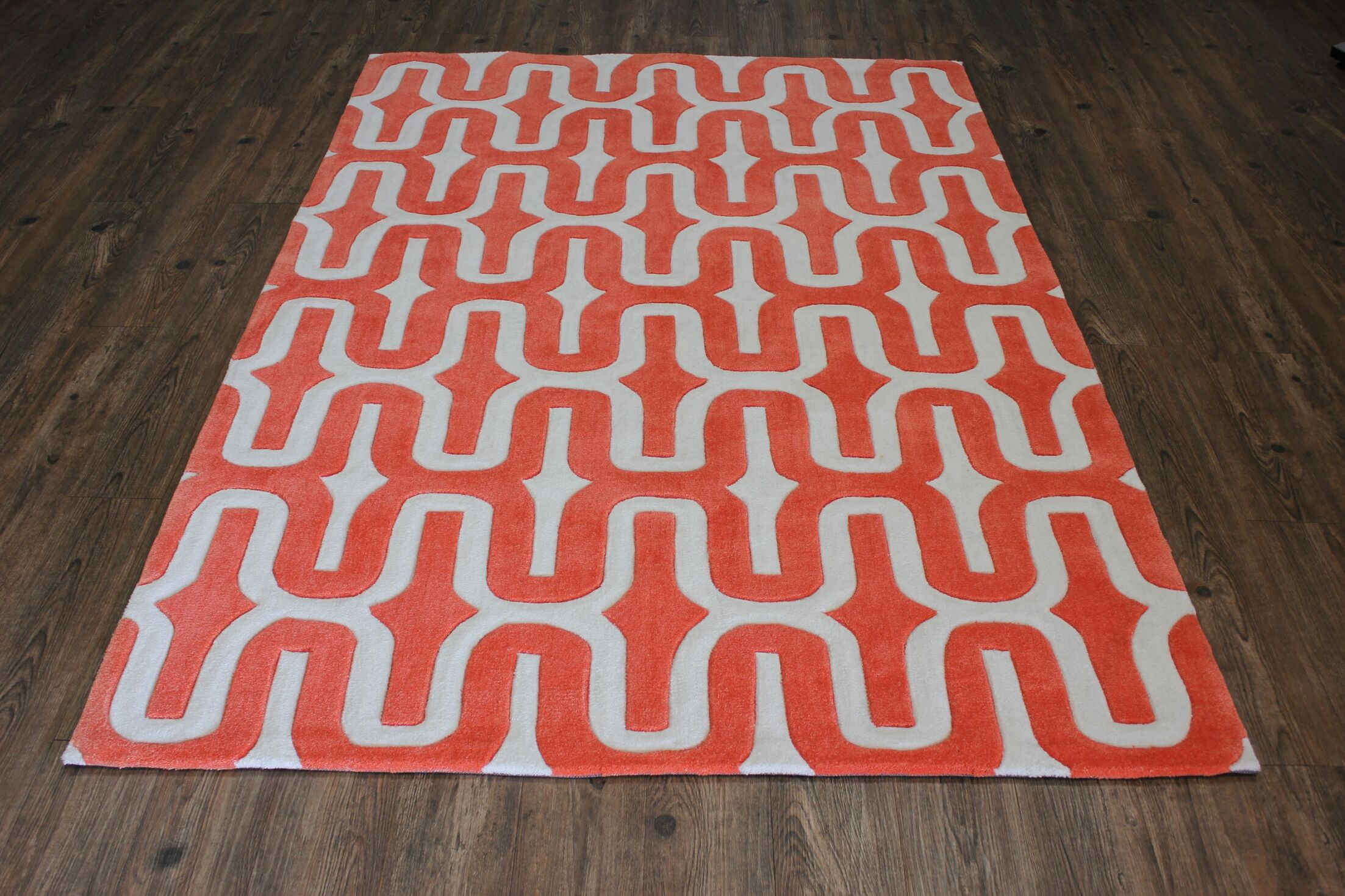 Transition Hand-Tufted Orange Area Rug