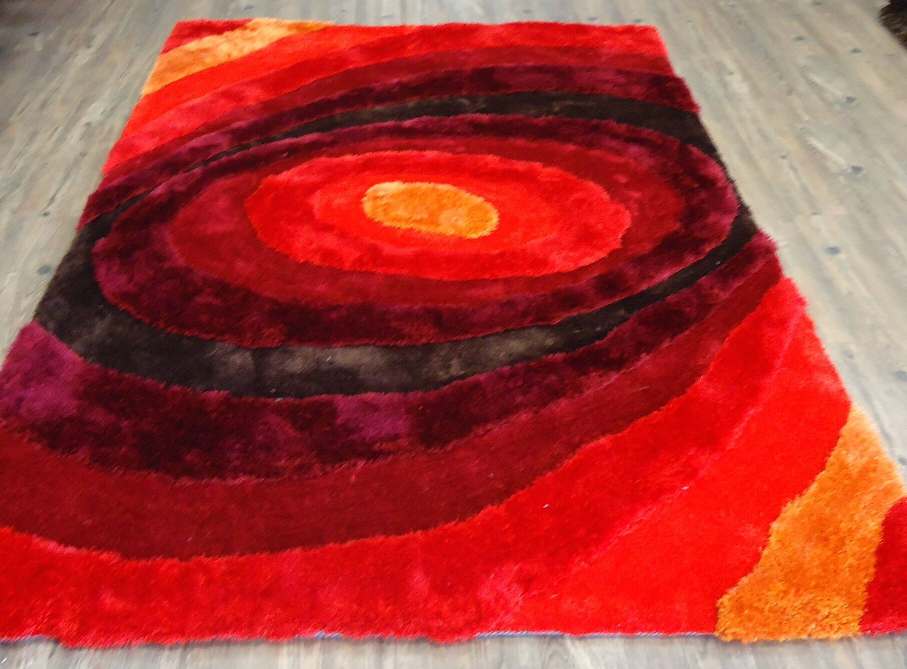 Qualls Hand-Tufted Red Area Rug