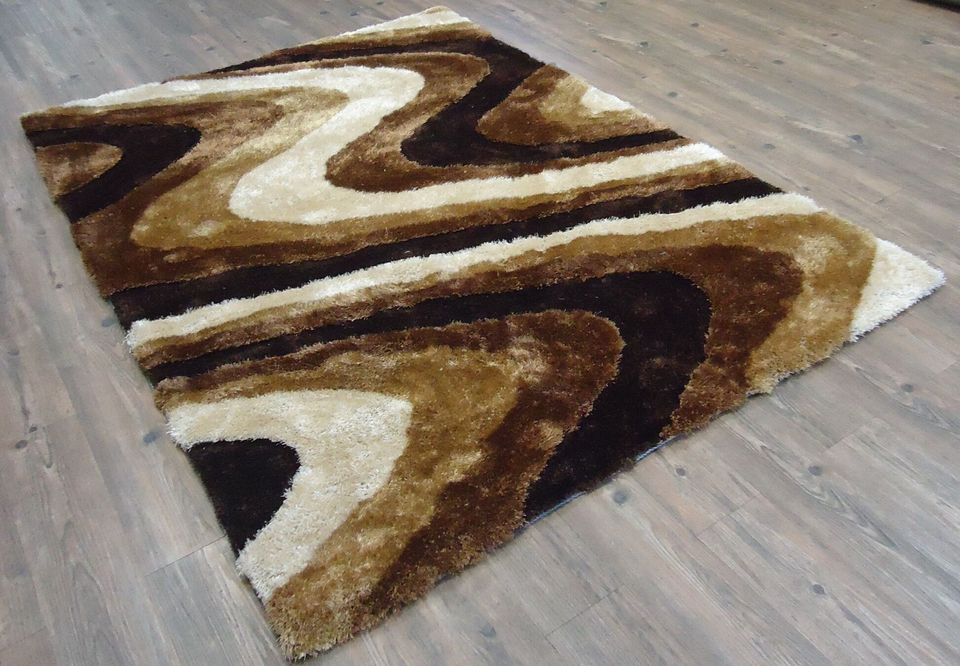 Clerkin Hand-Tufted Brown Area Rug Rug Size: Rectangle 5' x 7'
