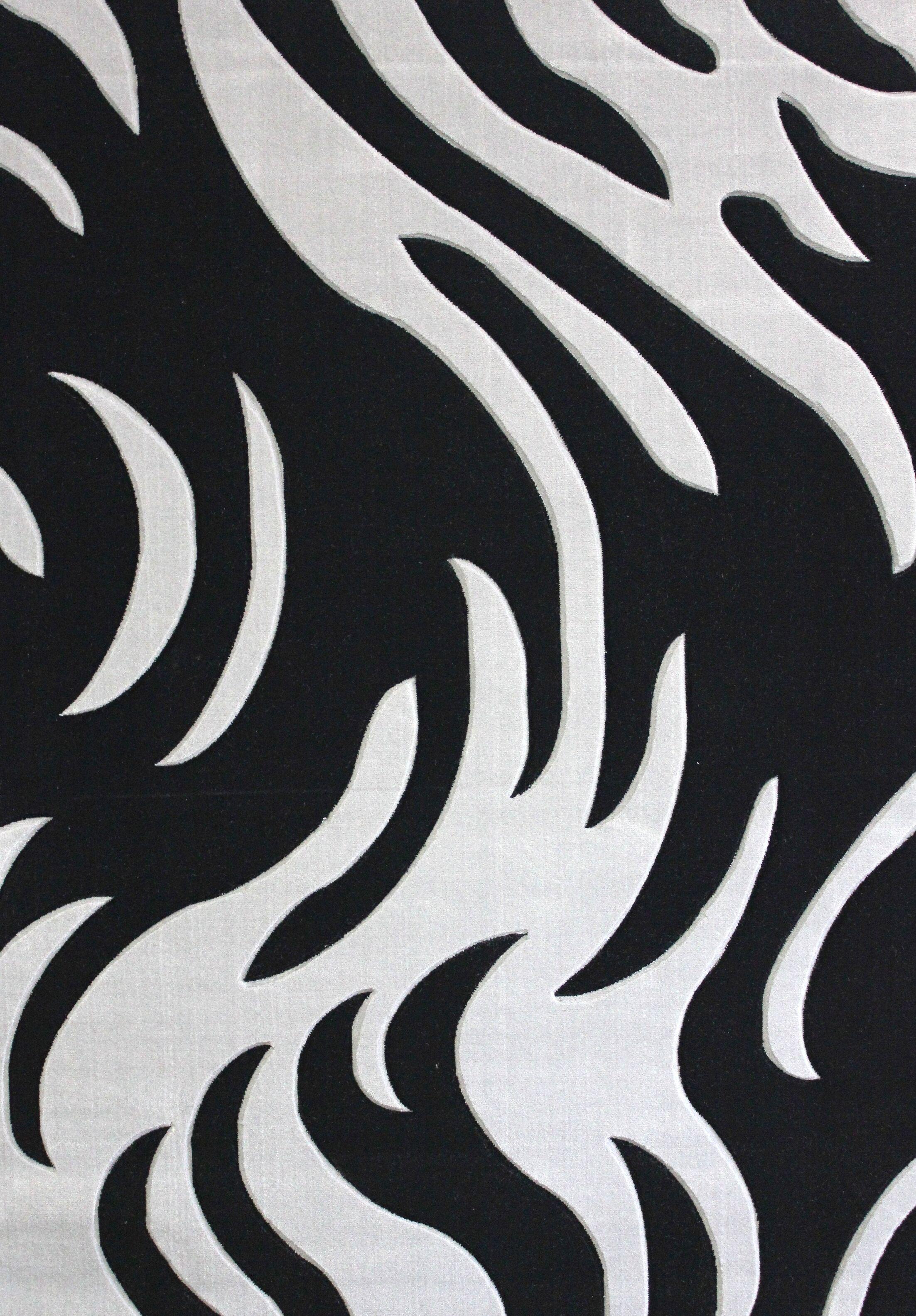 Geo Hand-Tufted Gray/Black Area Rug