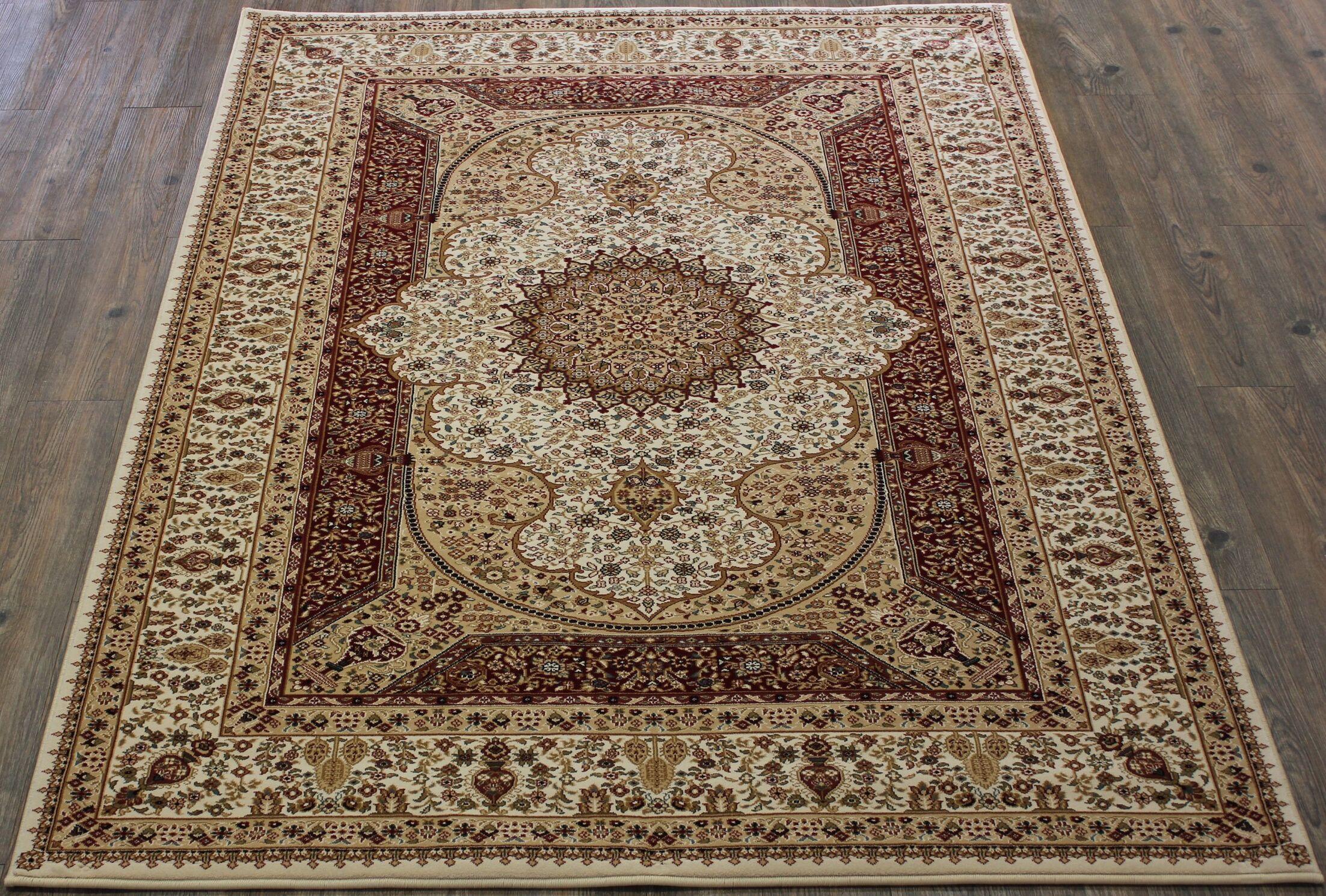Tabriz Red Indoor/Outdoor Area Rug Rug Size: 5' x 8'